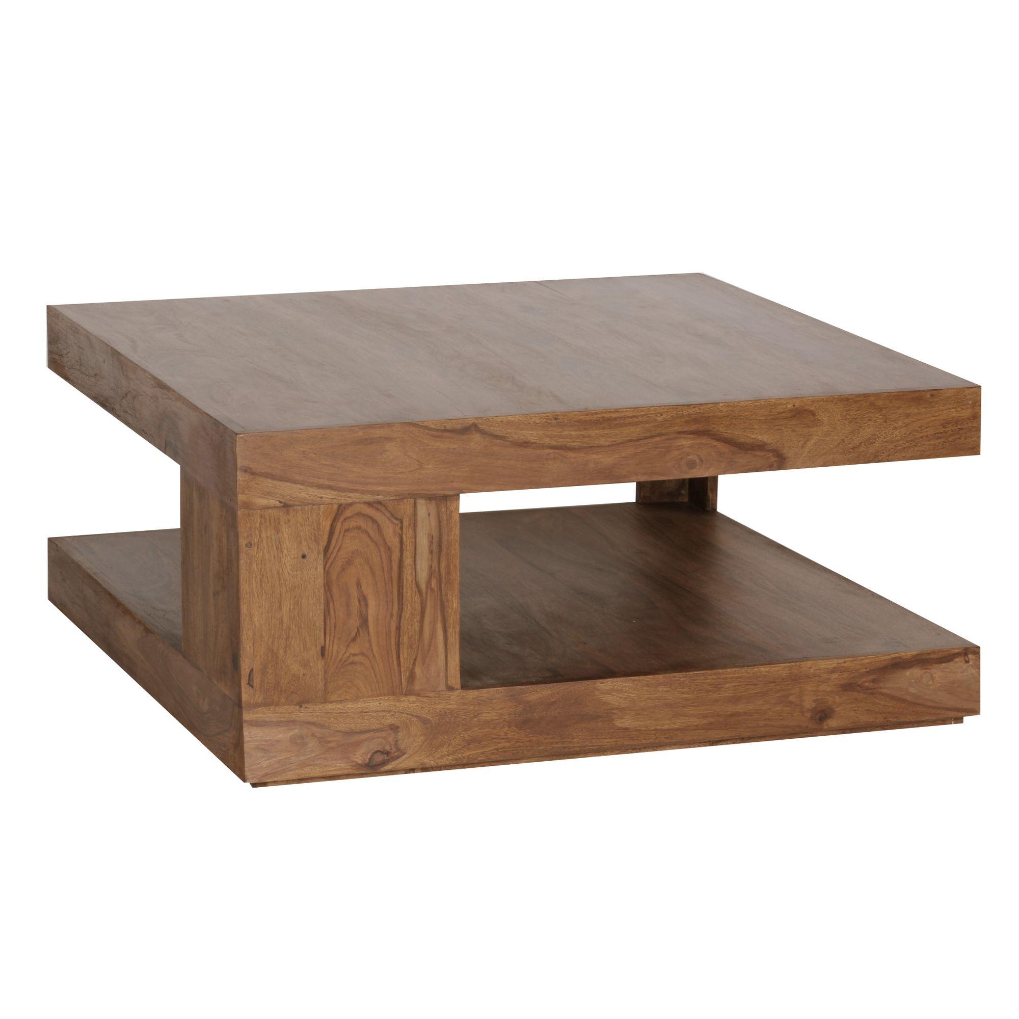 Massiver Couchtisch Patan 90 X 90 Cm Wohnzimmertisch Holz Tisch