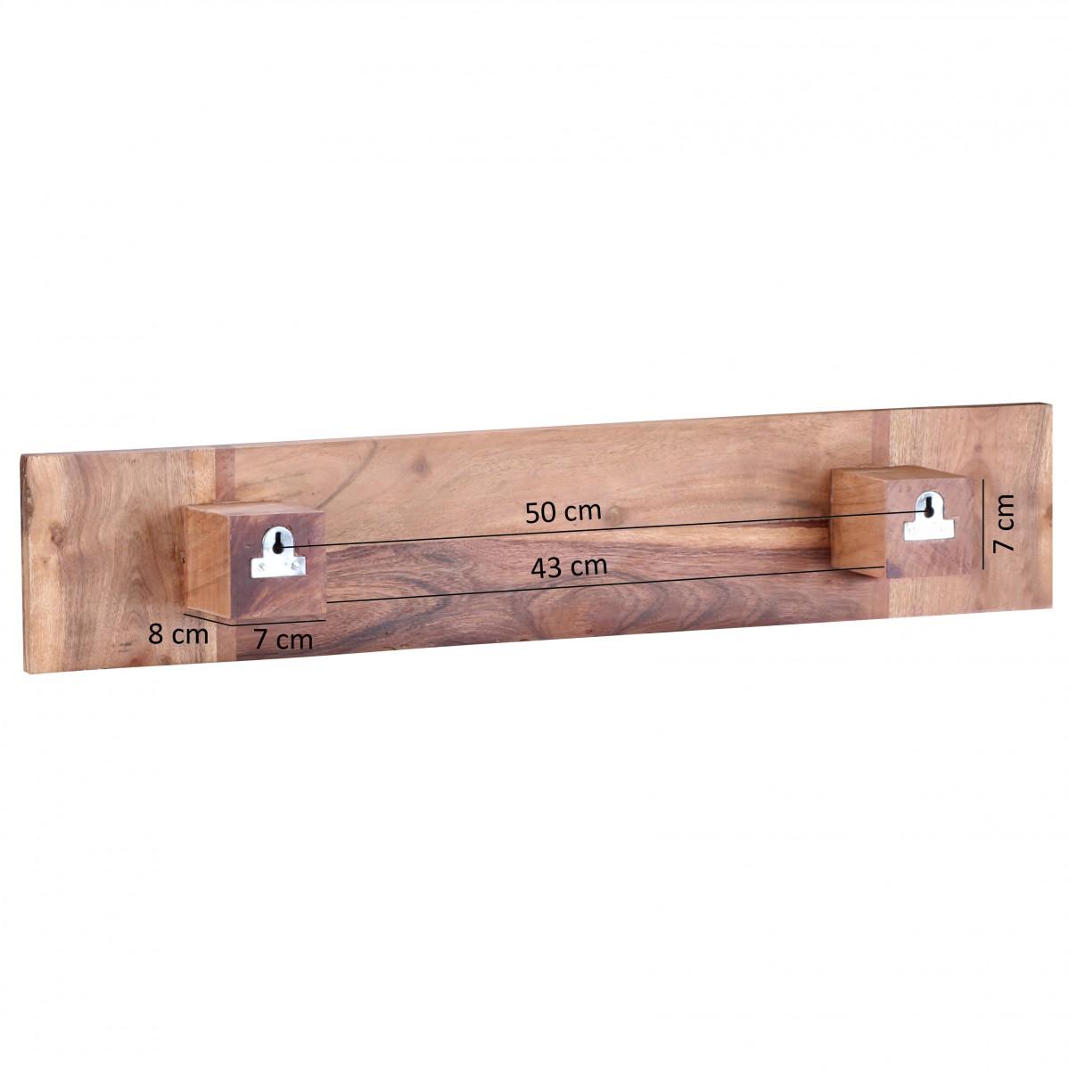 finebuy handtuchhalter massivholz 80 cm wandregal. Black Bedroom Furniture Sets. Home Design Ideas