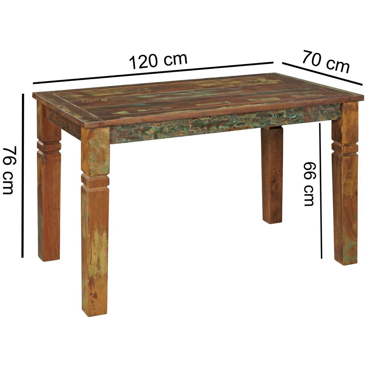 Wohnling esstisch 120 x 70cm esszimmertisch shabby tisch for Esstisch 70 x 120