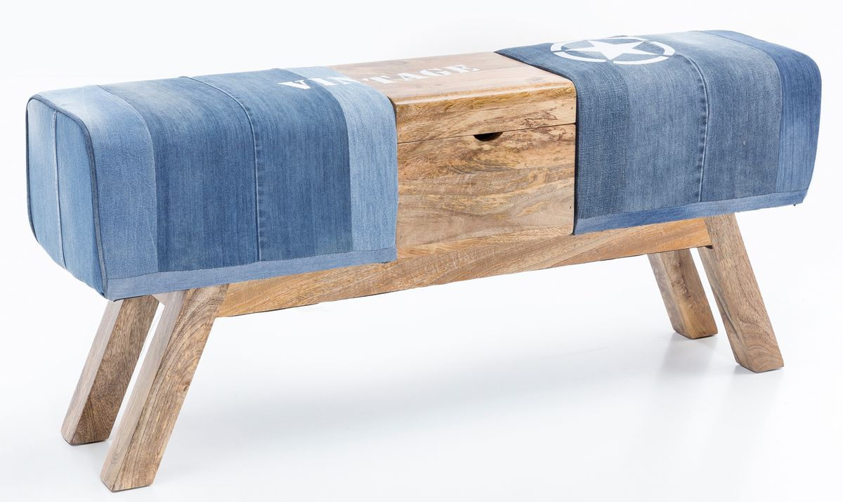 wohnling sitzbank turnbock denim 120 cm jeans springbock. Black Bedroom Furniture Sets. Home Design Ideas