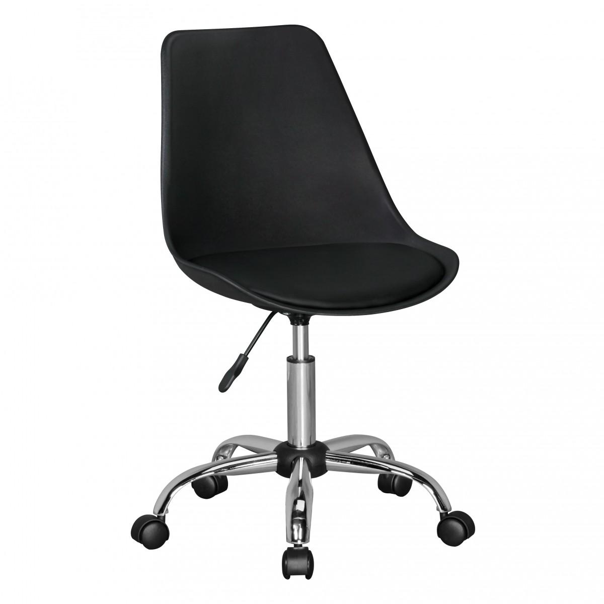 FineBuy HAINAN | Drehstuhl mit Kunstleder-Sitzfläche Blau | Design ...
