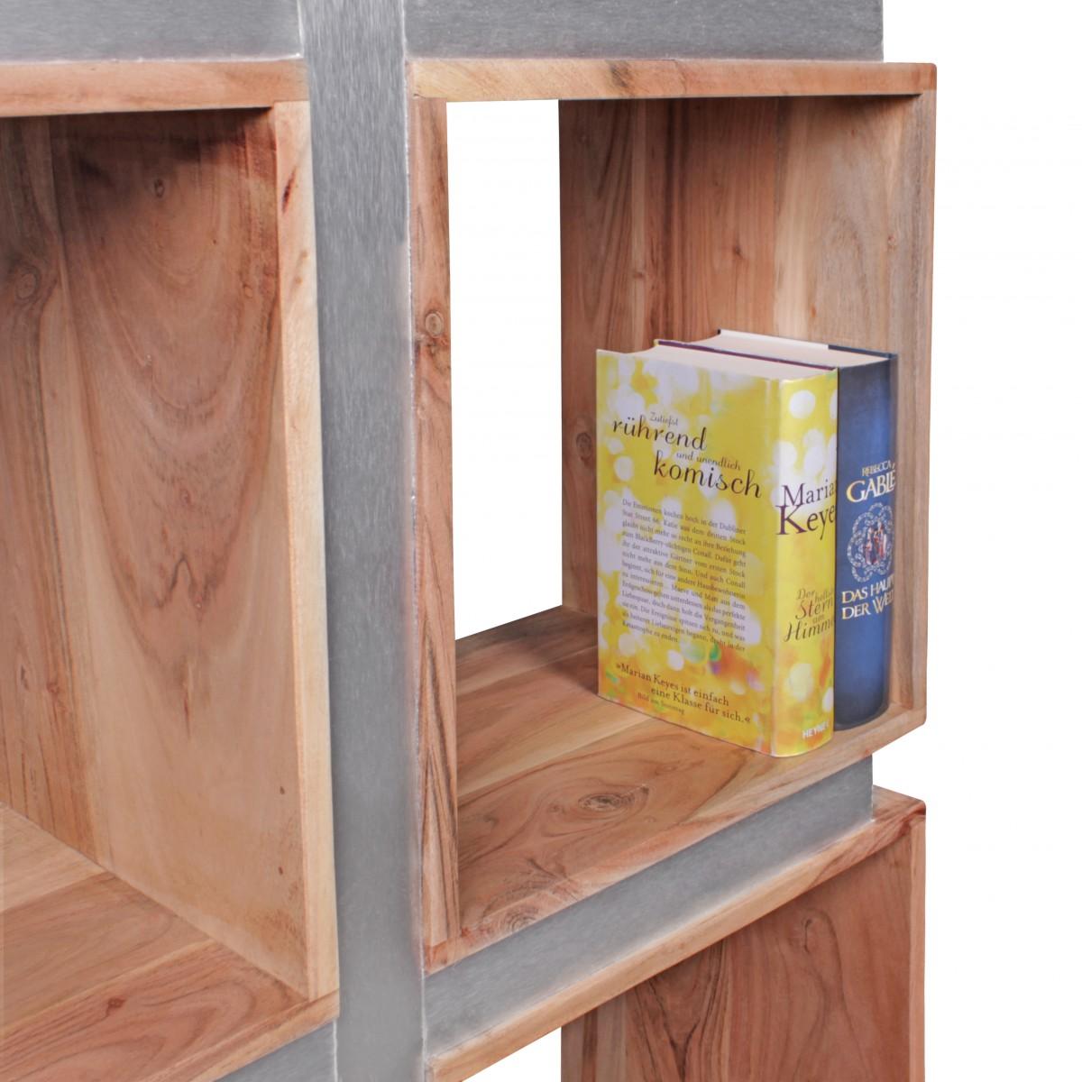 finebuy b cherregal massivholz 180 x 85 x 30 cm design. Black Bedroom Furniture Sets. Home Design Ideas