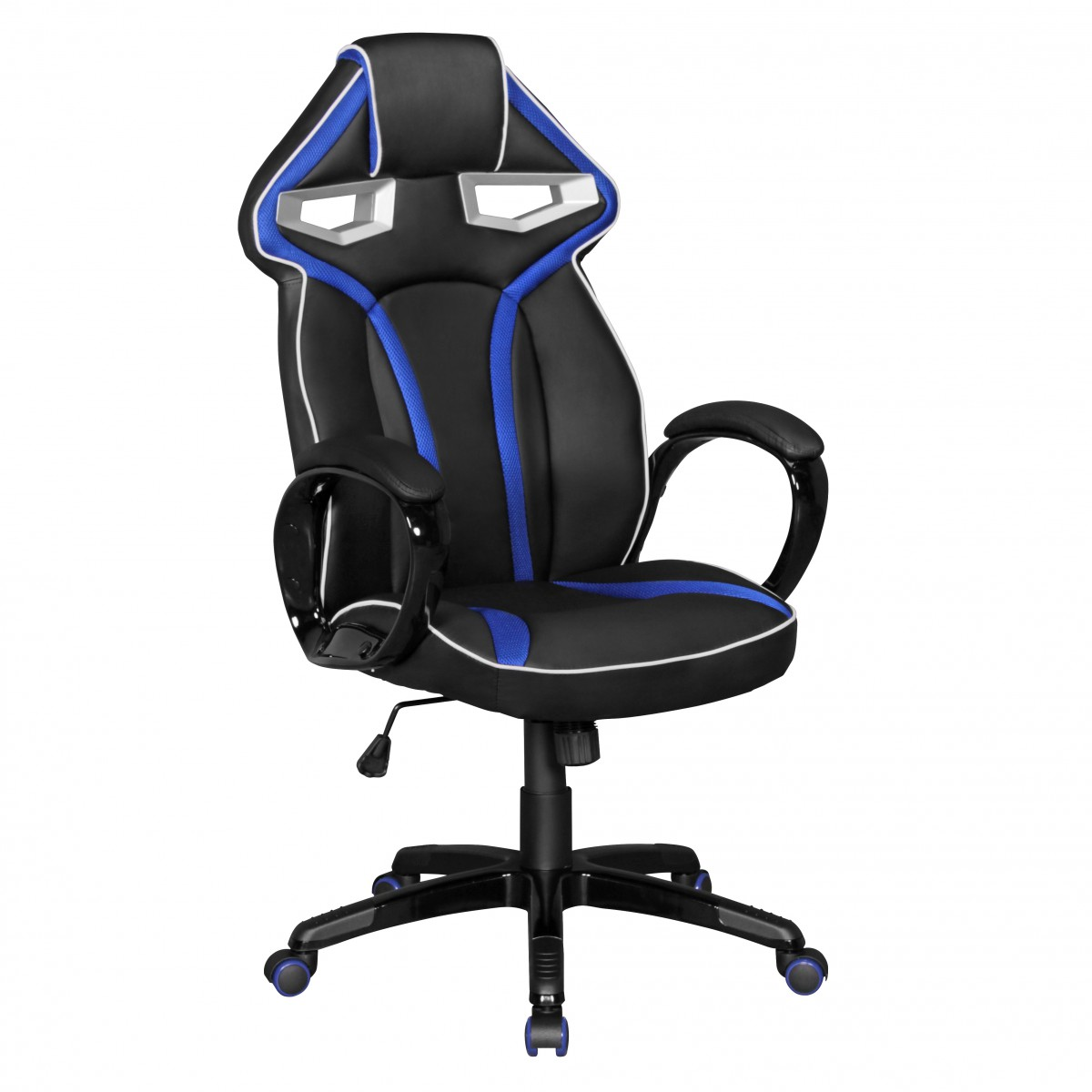 finebuy b rostuhl racestar leder optik schwarz wei schreibtischstuhl chefsessel gaming chair. Black Bedroom Furniture Sets. Home Design Ideas