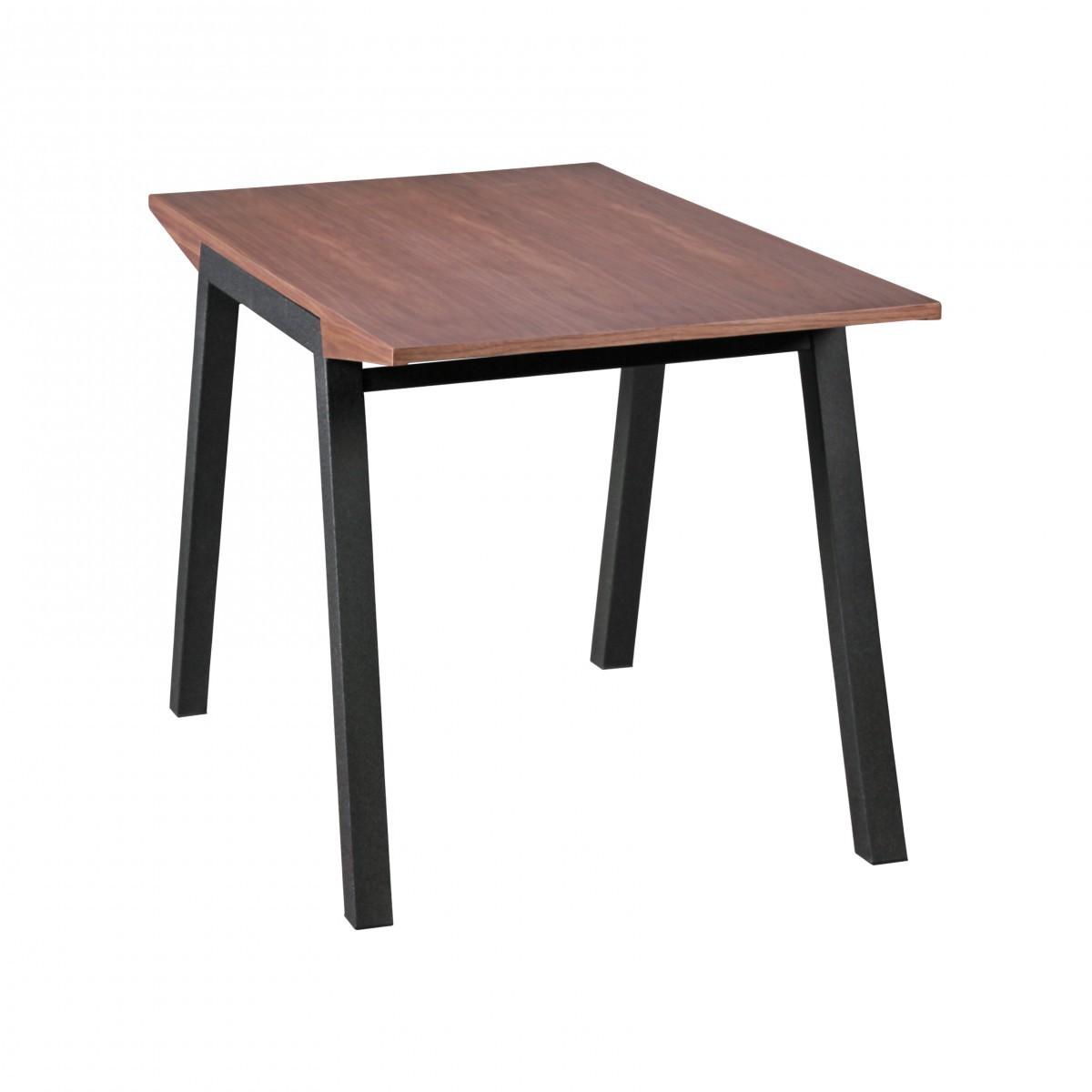 Finebuy table en noyer table de mdf table de cuisine 120cm for Table cuisine 70 x 120