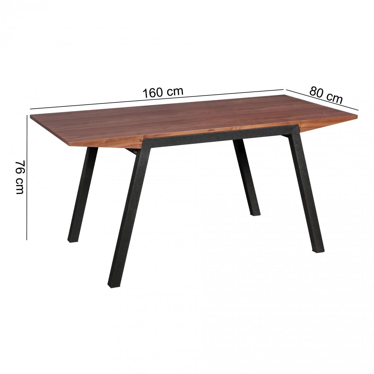 Finebuy esszimmertisch mdf holz design esstisch rechteckig for Holz esszimmertisch
