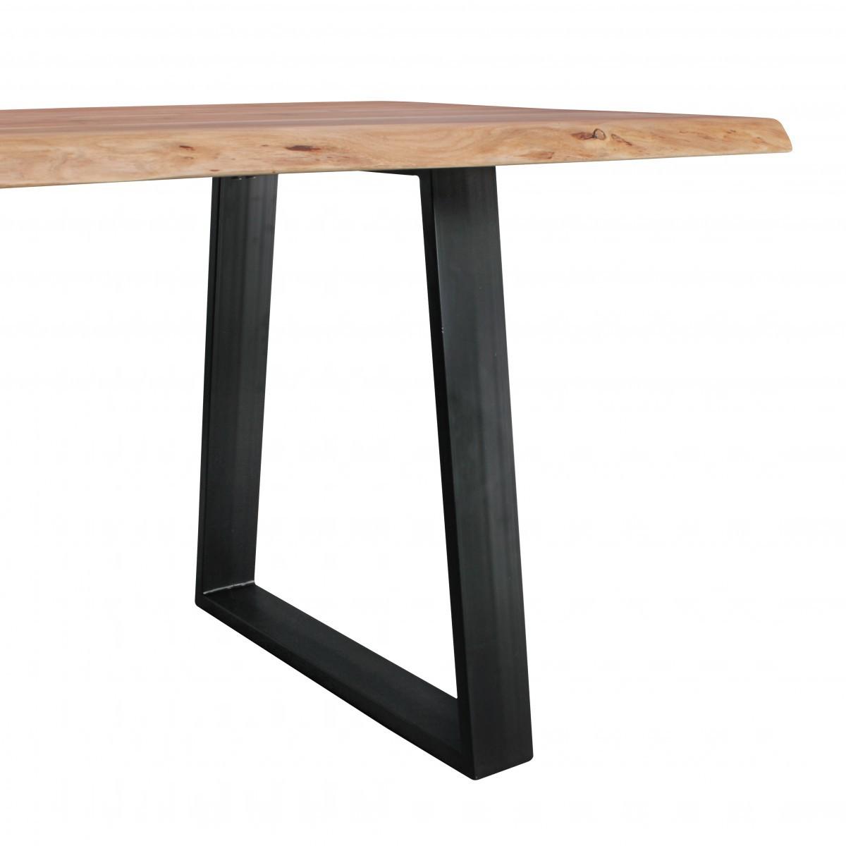 Esszimmertisch baumkante massiv esstisch tisch 180 x 80 x for Esszimmertisch naturholz
