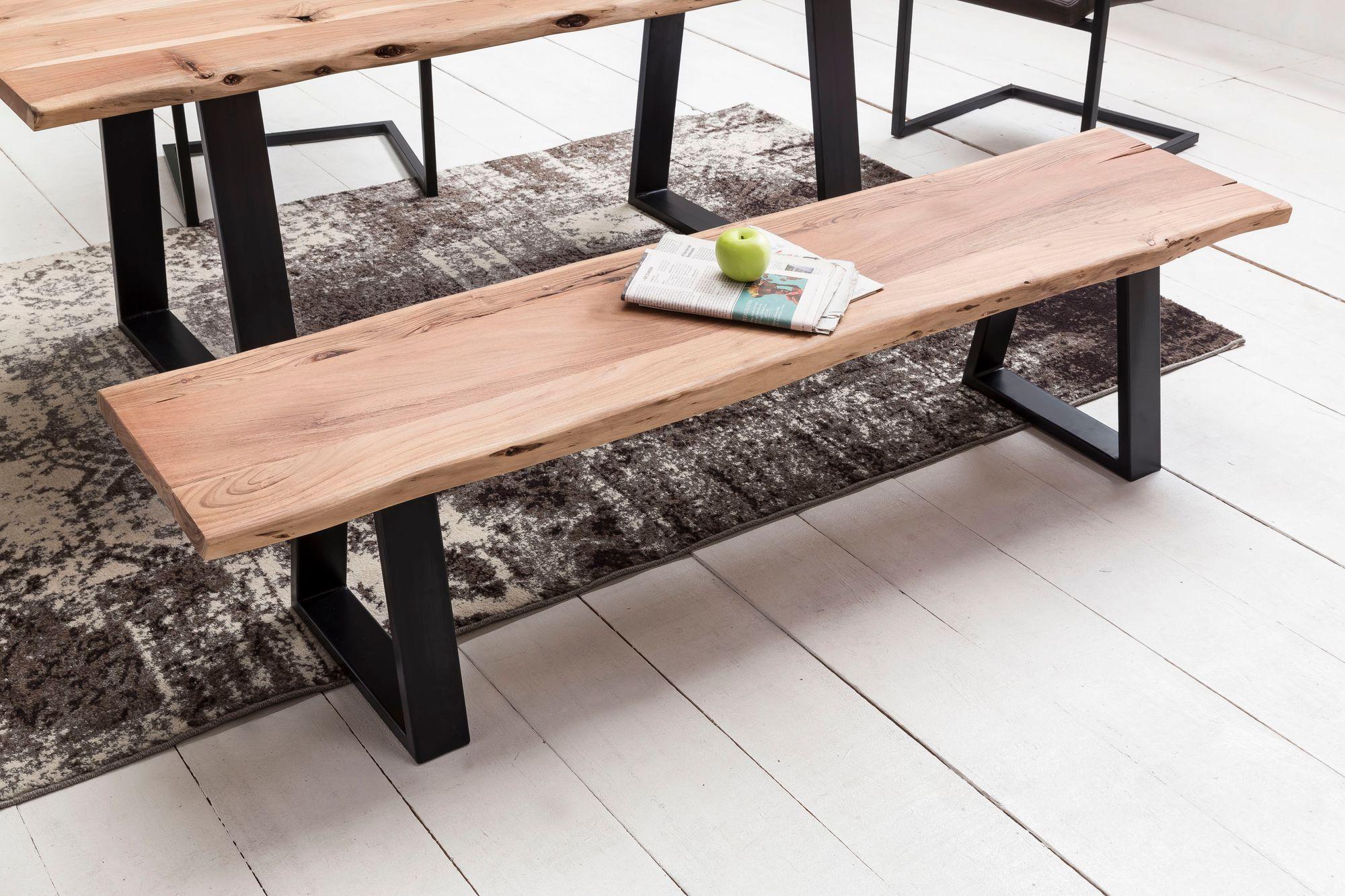 Inspirierend Sitzbank Ohne Lehne Referenz Von Massive Tree Baumkante Akazie Massivholz | Küchenbank