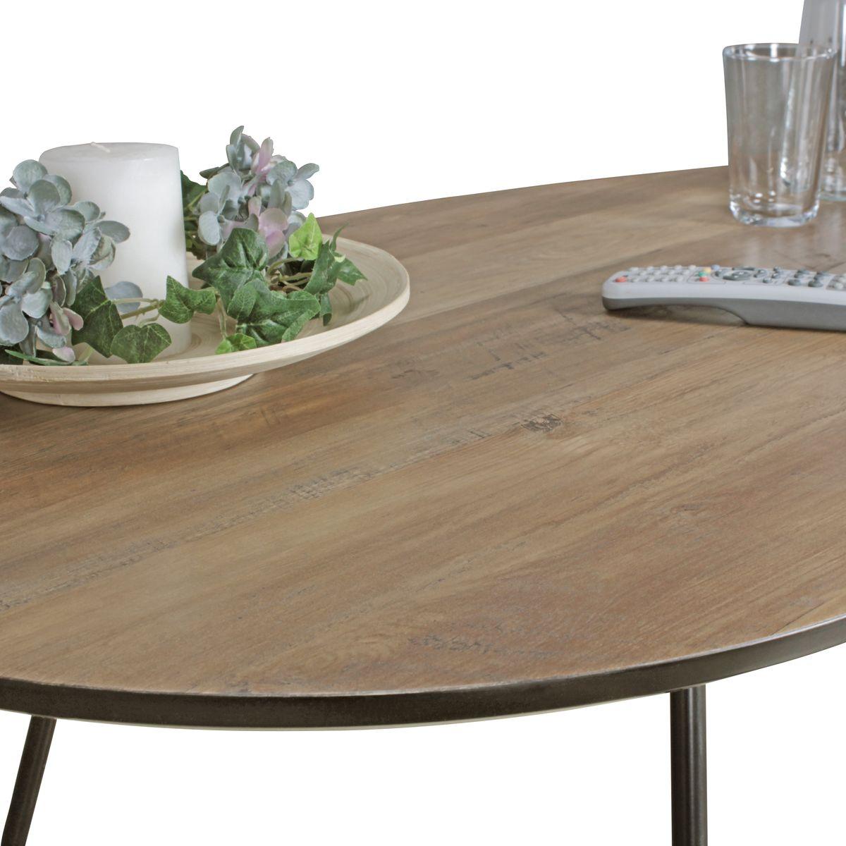 wohnling couchtisch mdf holz wohnzimmertisch metall loungetisch nierentisch ebay. Black Bedroom Furniture Sets. Home Design Ideas