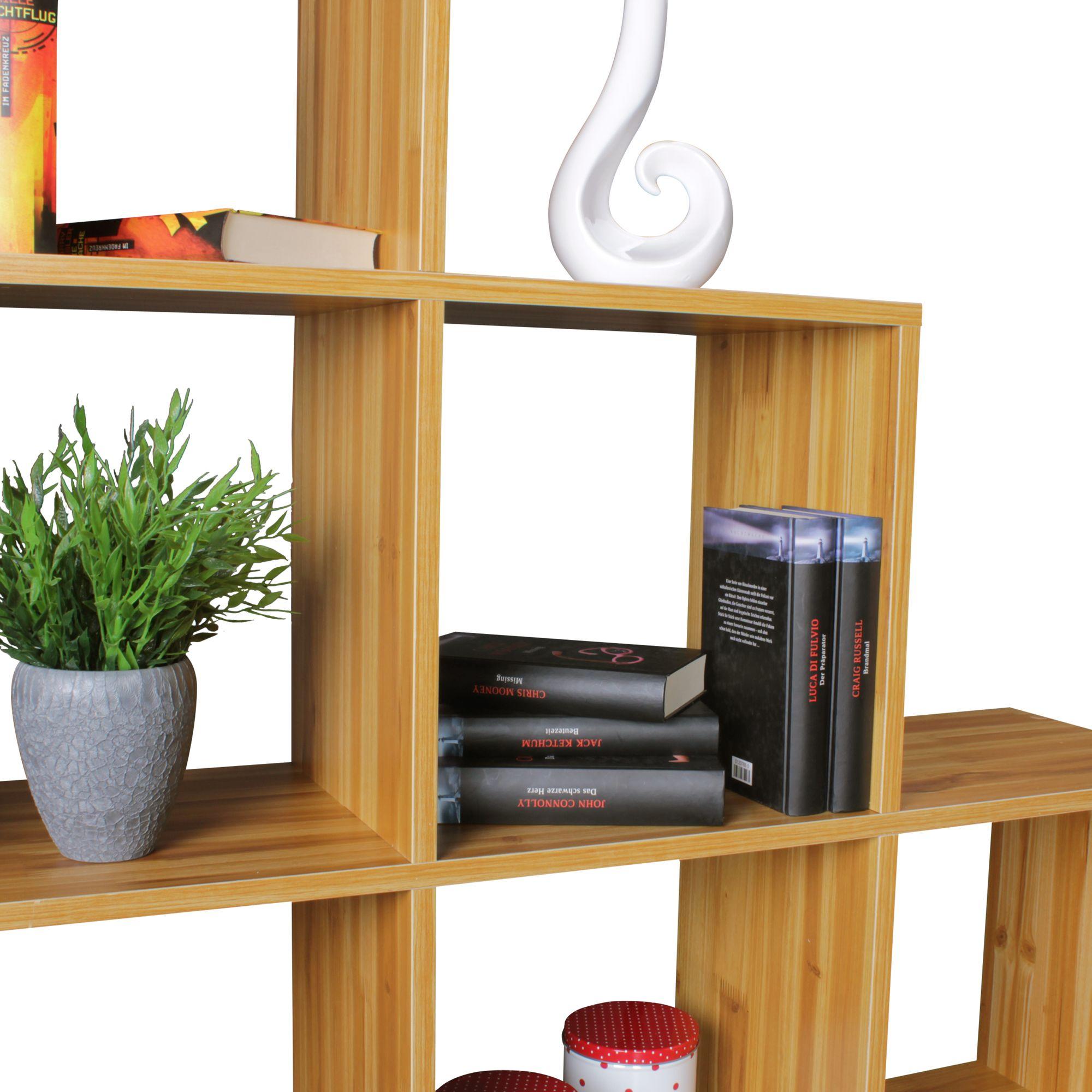 stufenregal buche f cher standregal raumteiler treppenregal b cherregal regal ebay. Black Bedroom Furniture Sets. Home Design Ideas