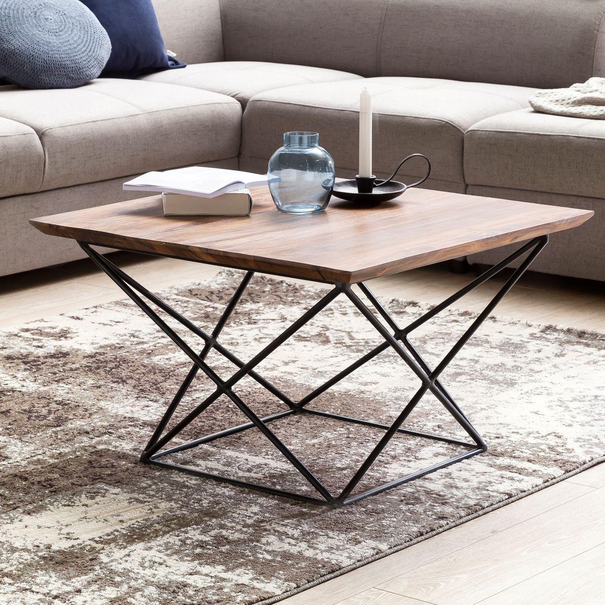 wohnling design couchtisch akola sheesham massivholz 71 x. Black Bedroom Furniture Sets. Home Design Ideas
