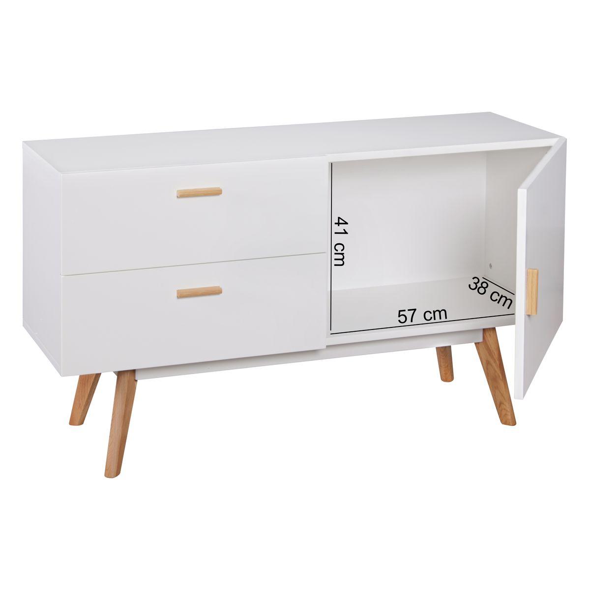 finebuy sideboard scanio matt 120 x 70 cm mit 2 schubladen. Black Bedroom Furniture Sets. Home Design Ideas