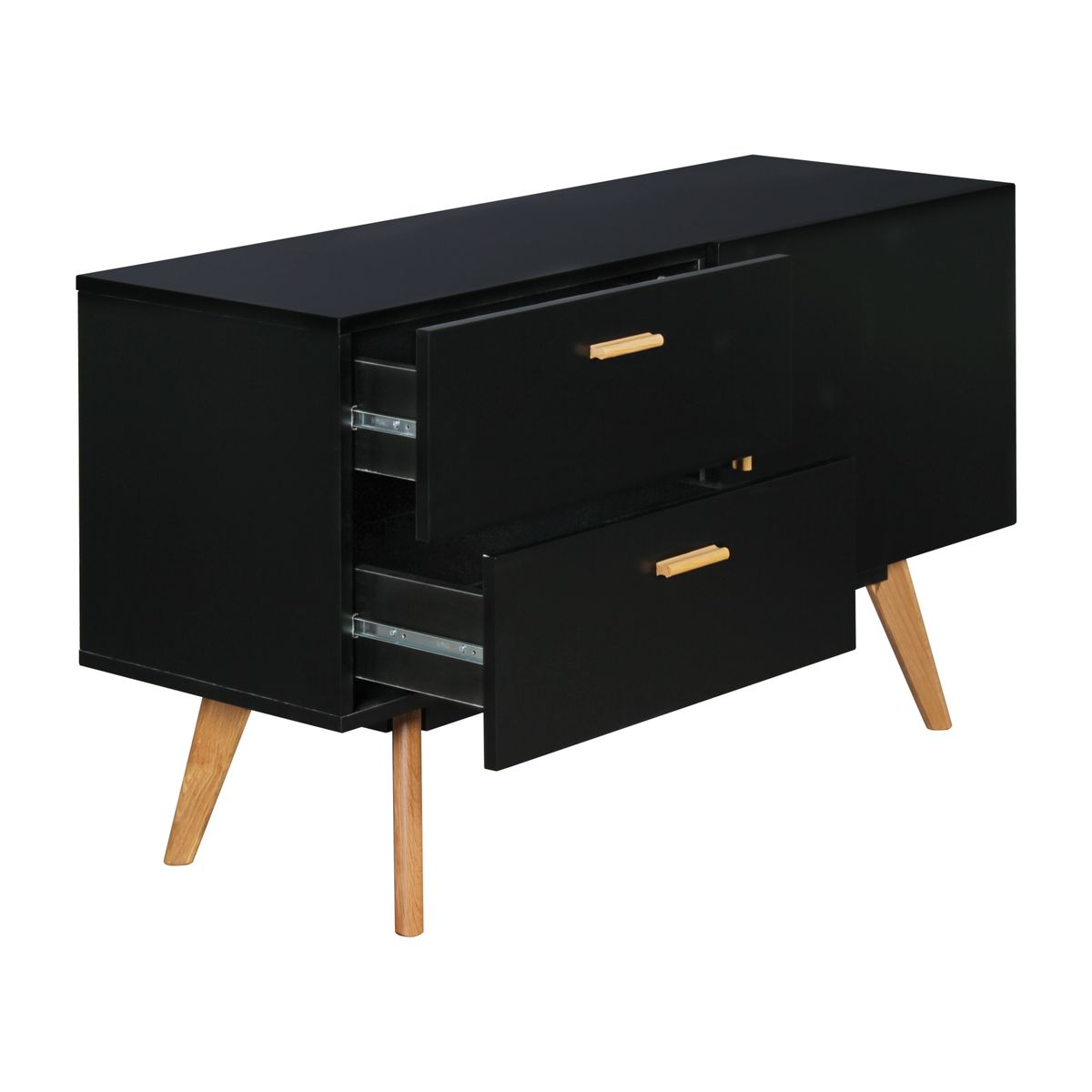 finebuy sideboard scanio matt 120 x 70 cm mit 2 schubladen t r moderne kommode. Black Bedroom Furniture Sets. Home Design Ideas
