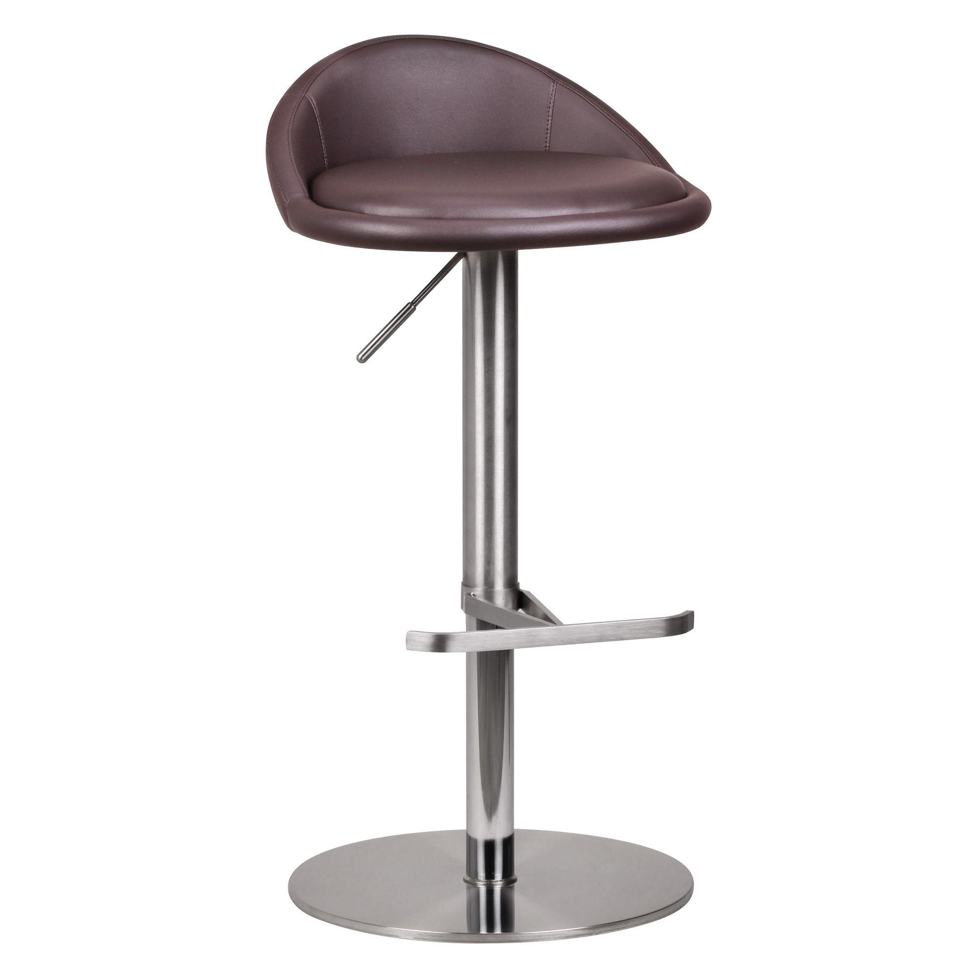 FineBuy Barhocker Edelstahl höhenverstellbare Sitzhöhe 54-79 cm | Design  Barstuhl mit Rückenlehne | Bistrohocker Barsitz Gepolstert | Thekenhocker  ...