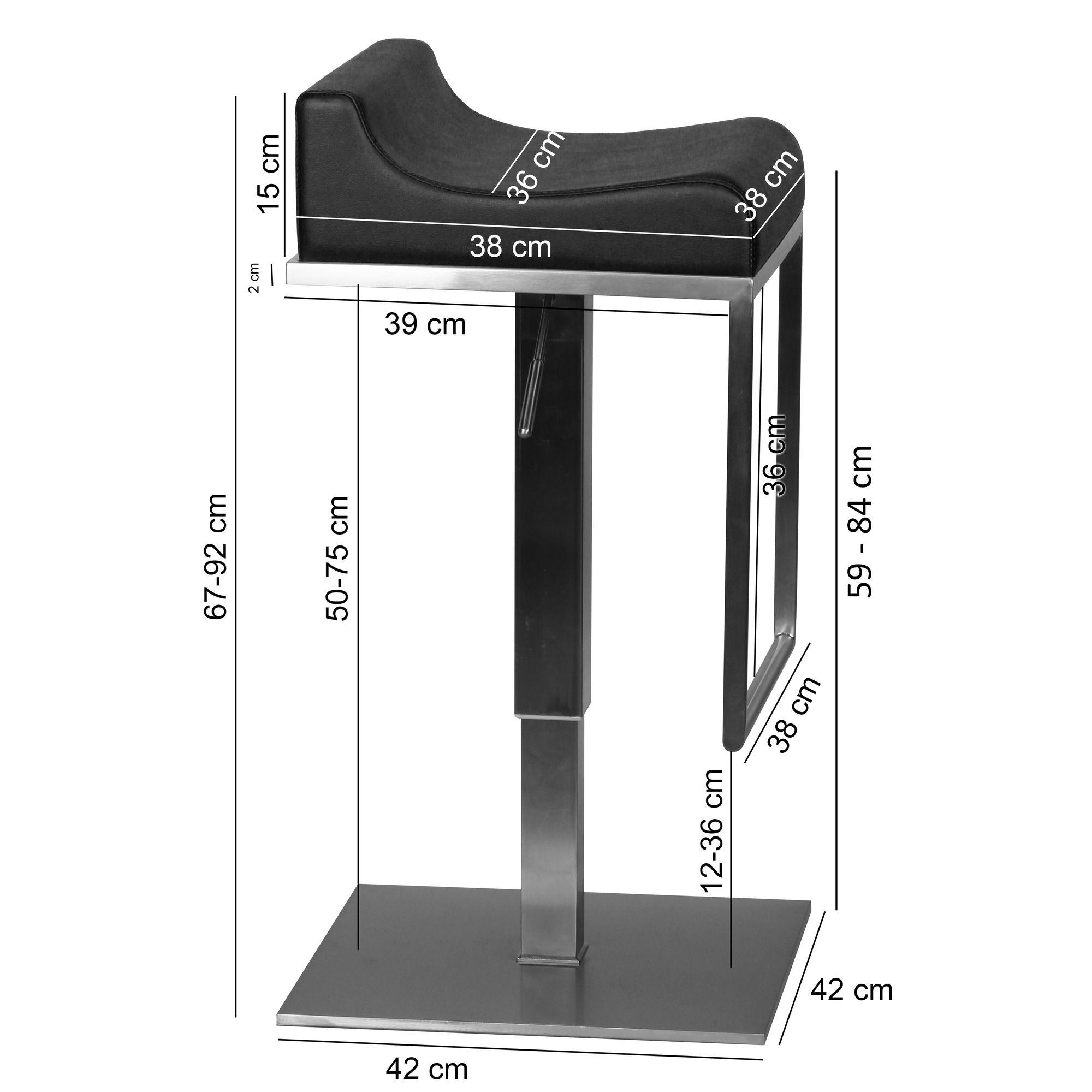 finebuy tabouret de bar reglable 65 89 cm chaise de bar. Black Bedroom Furniture Sets. Home Design Ideas