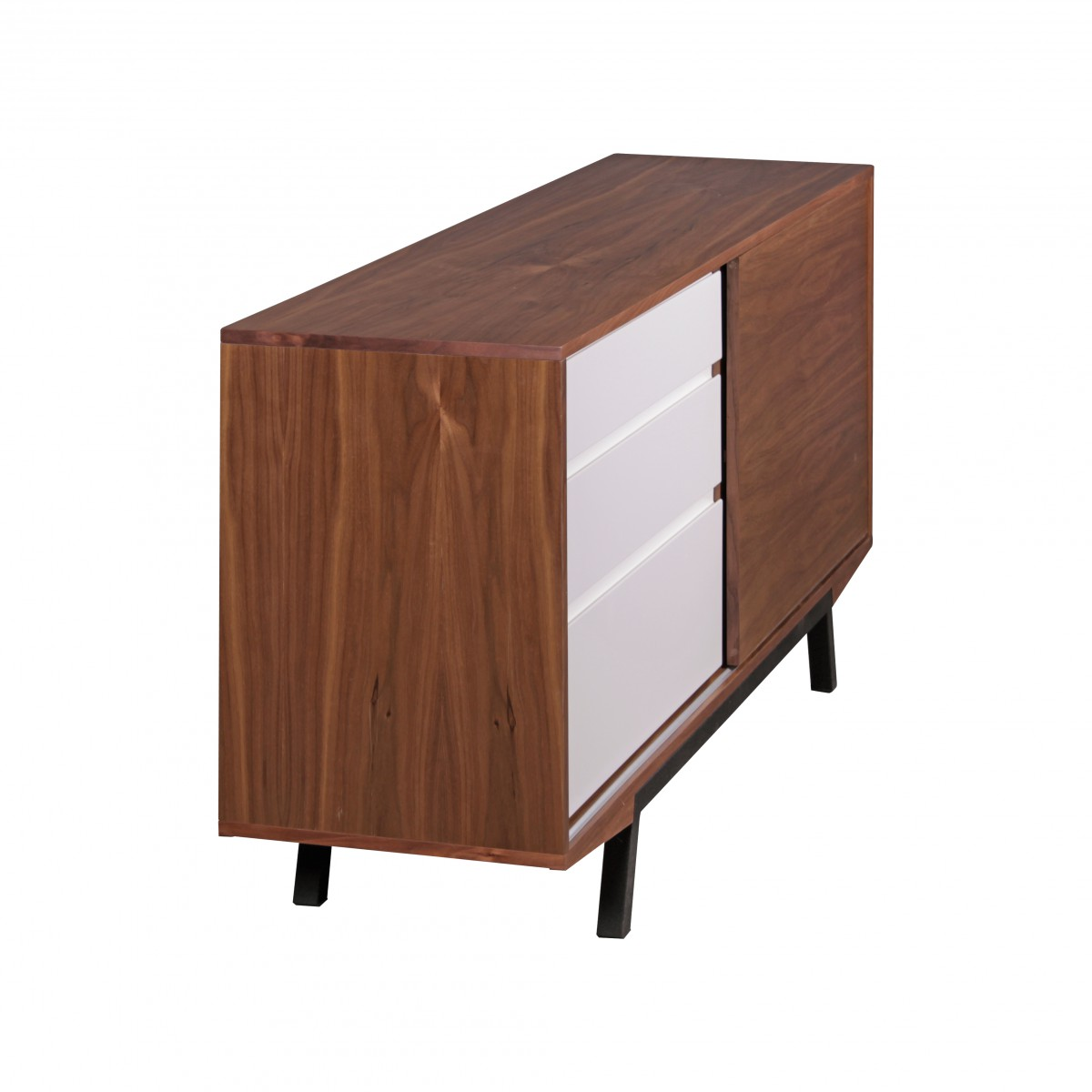 kommode diele sideboard 160 cm mdf retro anrichte schubladen flur skandinavisch ebay. Black Bedroom Furniture Sets. Home Design Ideas