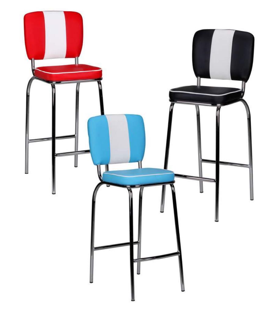 finebuy barhocker king american diner 50er jahre retro. Black Bedroom Furniture Sets. Home Design Ideas