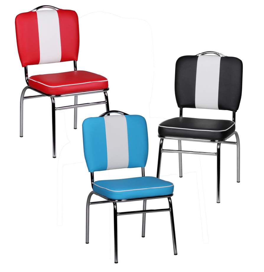 Esszimmerstuhl American Diner Stuhl 50er Jahre Retro Möbel Stuhl Bistro  Essstuhl