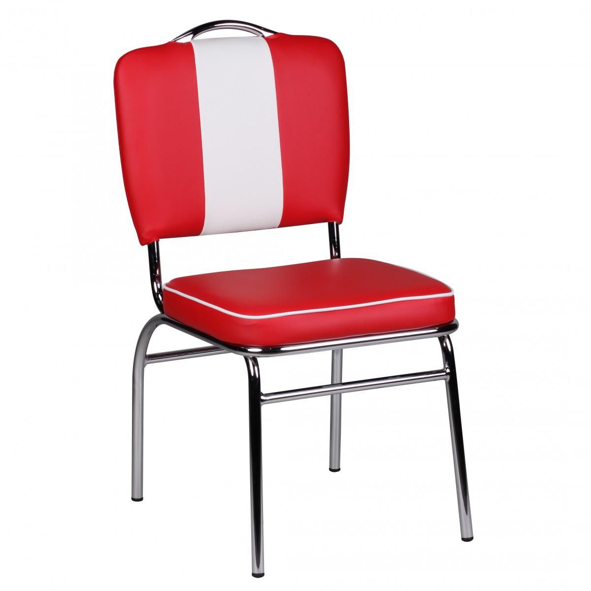 FineBuy 2er Set Esszimmerstühle KING American Diner 50er Jahre Retro ...