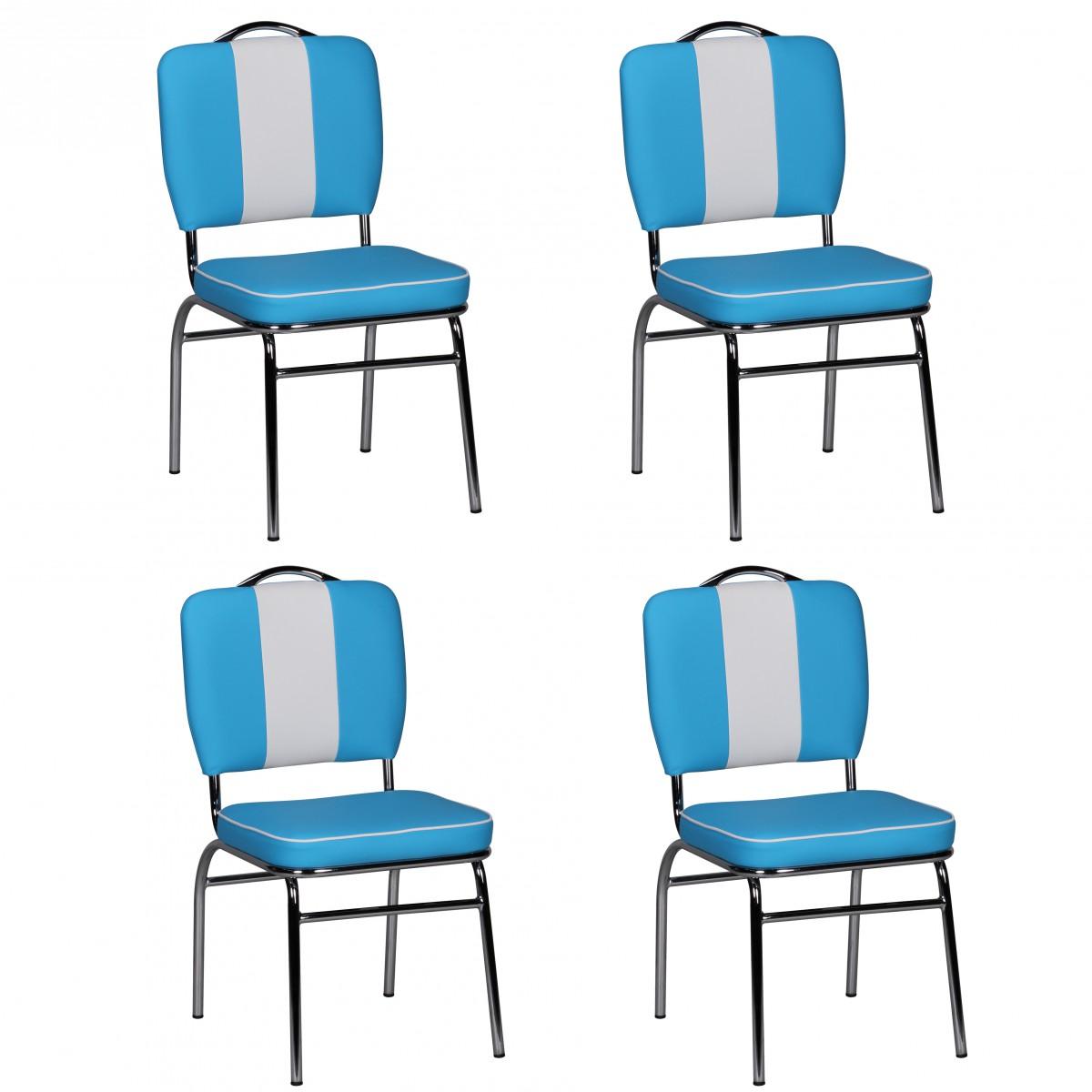 FineBuy 4er Set Esszimmerstühle KING American Diner 50er Jahre Retro ...