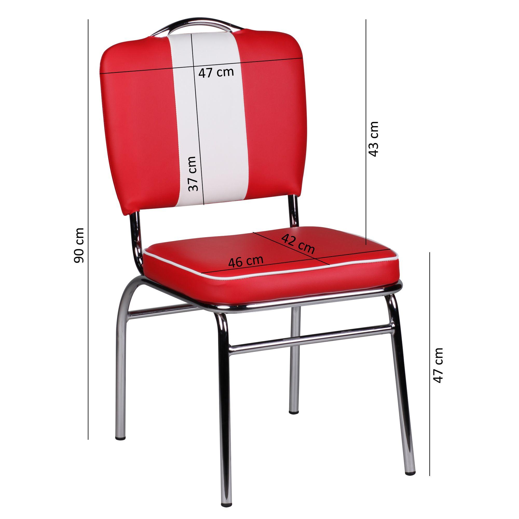 4er Set Esszimmerstühle American Diner Stühle 50er Jahre Retro Möbel Bistro