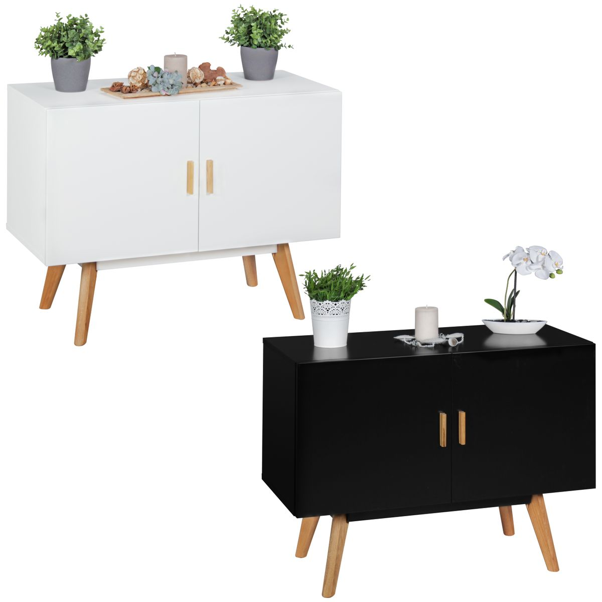 Mdf buffet enfilade scanio 90 x 40 cm commode couloir hall for Meuble 90 cm largeur