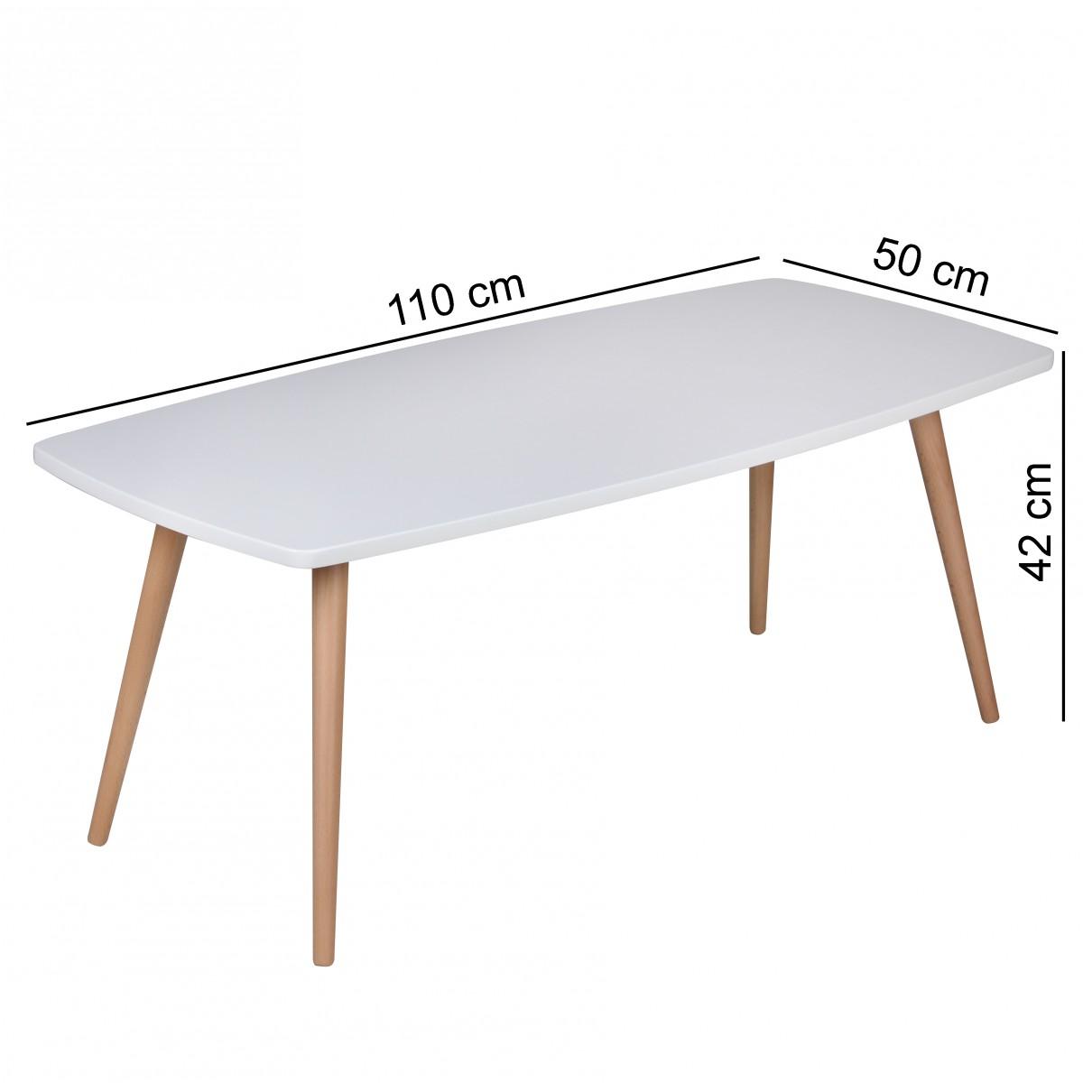 Design couchtisch skandi 110 x 50 x 42 cm rechteckig retro for Couchtisch 100