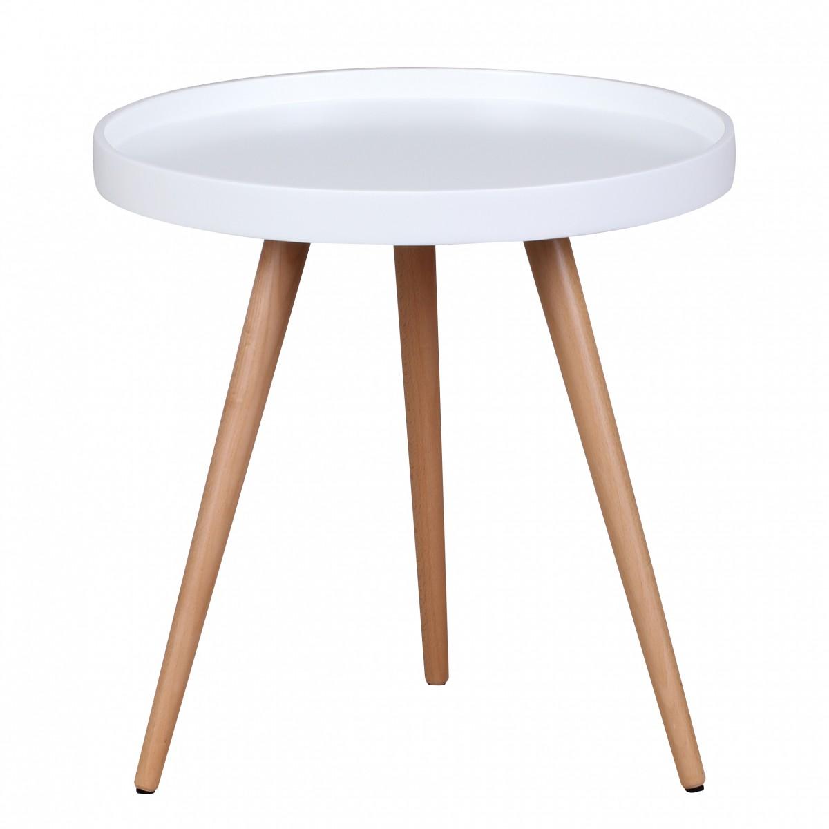 Tisch Rund 50 Cm.Finebuy Couchtisch ø 50 Cm Beistelltisch Holz Rund Retro Wohnzimmertisch Tisch