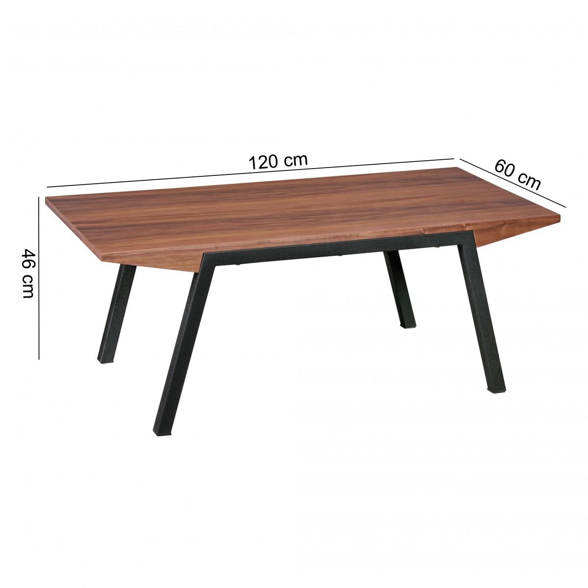 Finebuy couchtisch mdf holz walnuss design wohnzimmertisch for Tische holz design