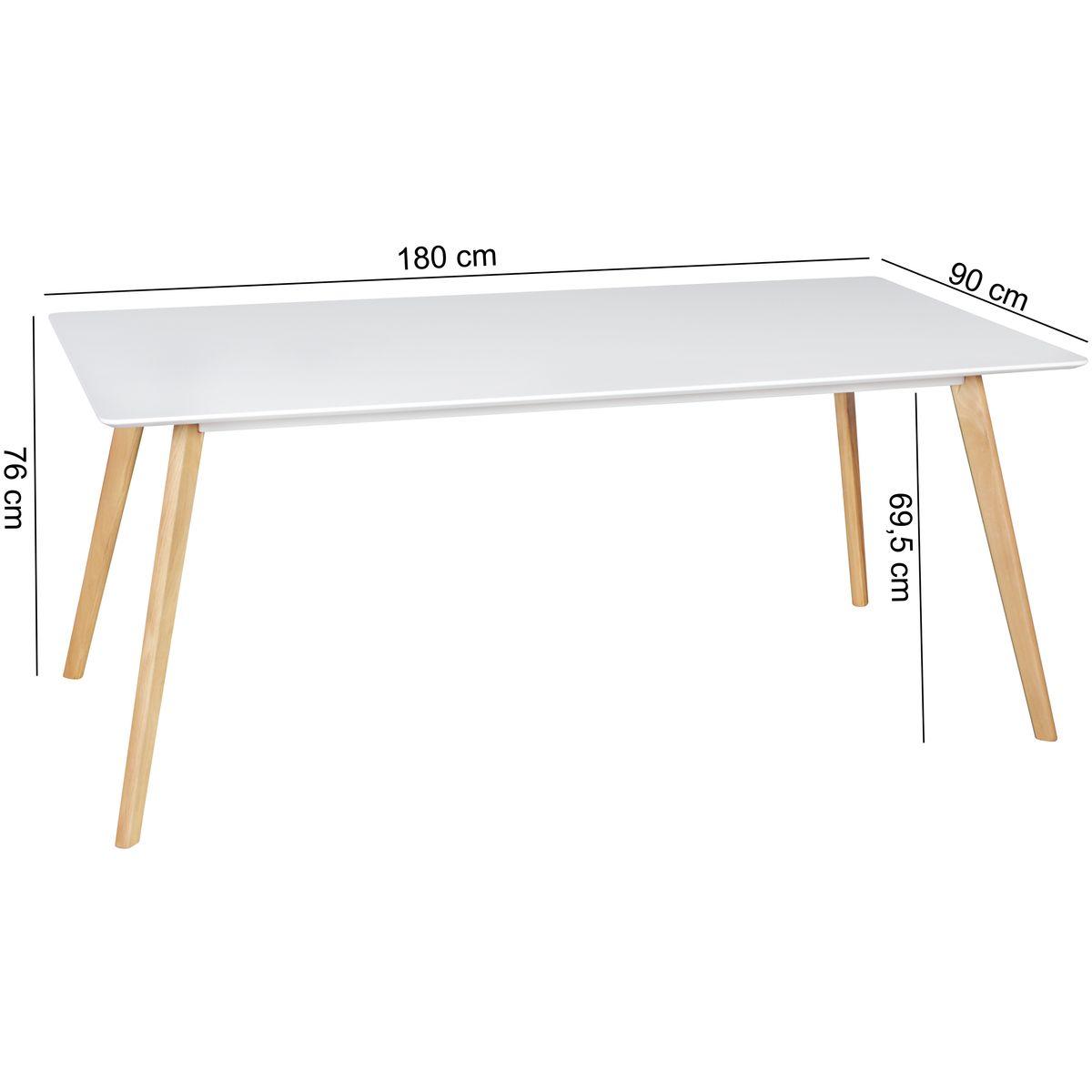 finebuy esszimmertisch skandinavisch mdf holz esstisch mit. Black Bedroom Furniture Sets. Home Design Ideas
