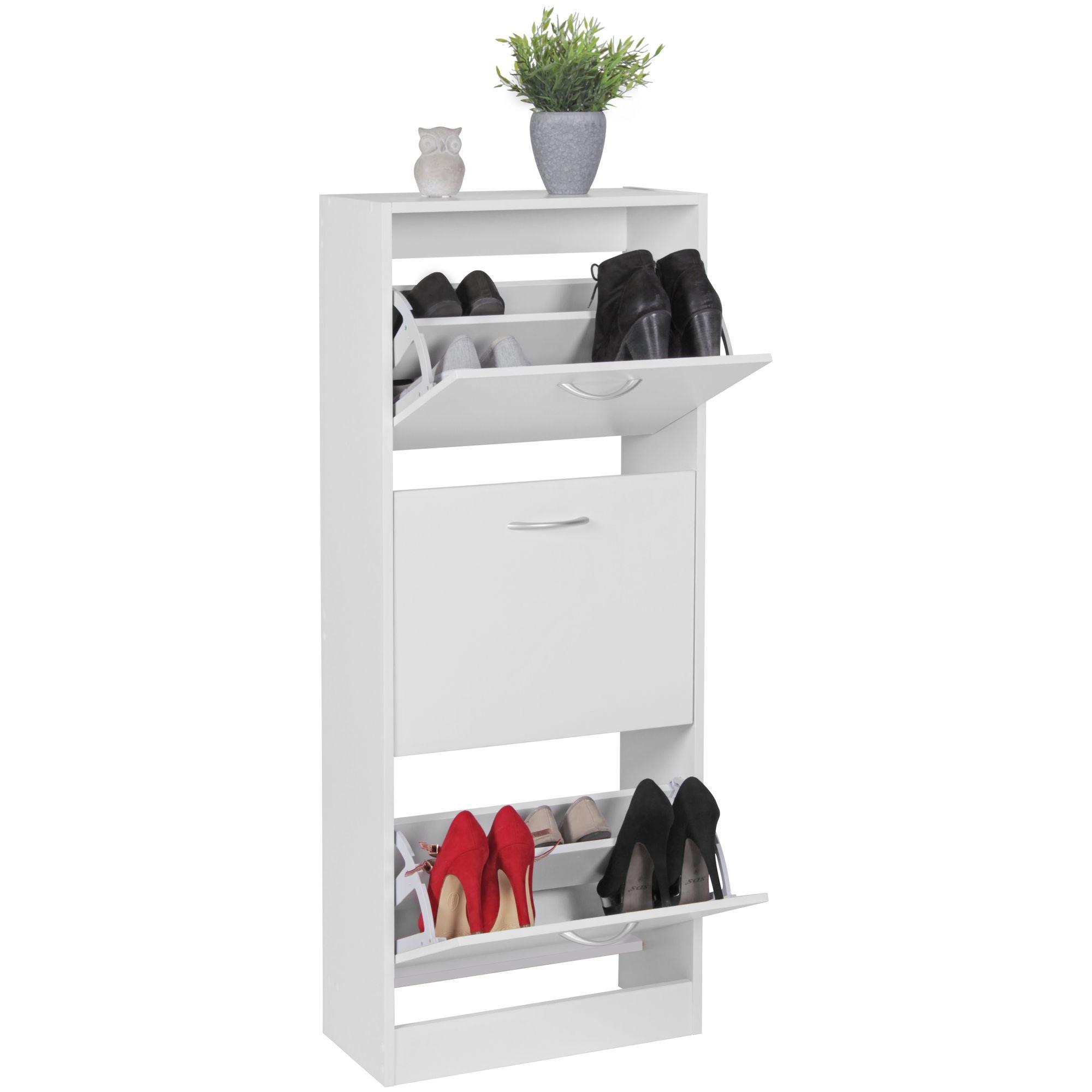 FineBuy Schuhkipper mit 3 Fächern für 18 Paar Schuhe | Moderner ...