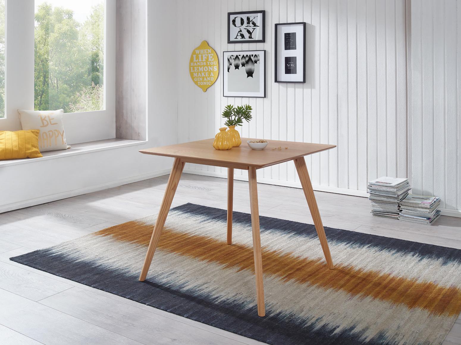 Esszimmertisch Holz Skandinavisch 80 X 80 Cm Eiche Design Esstisch Küchentisch