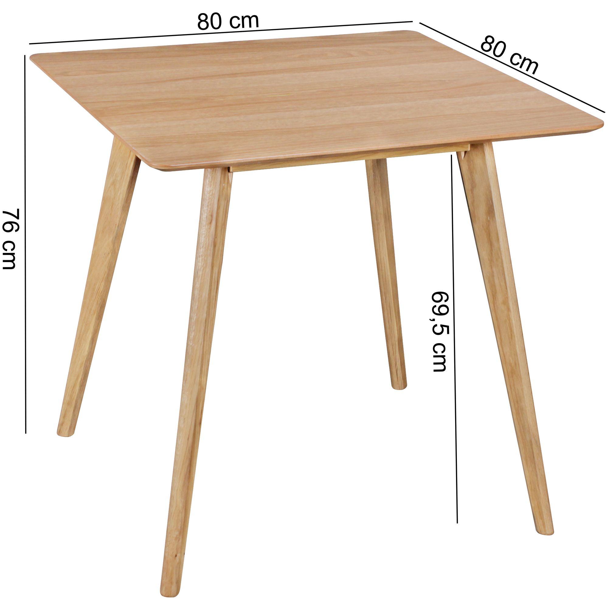 Esszimmertisch Holz Skandinavisch 80 X 80 Cm Eiche Design Esstisch