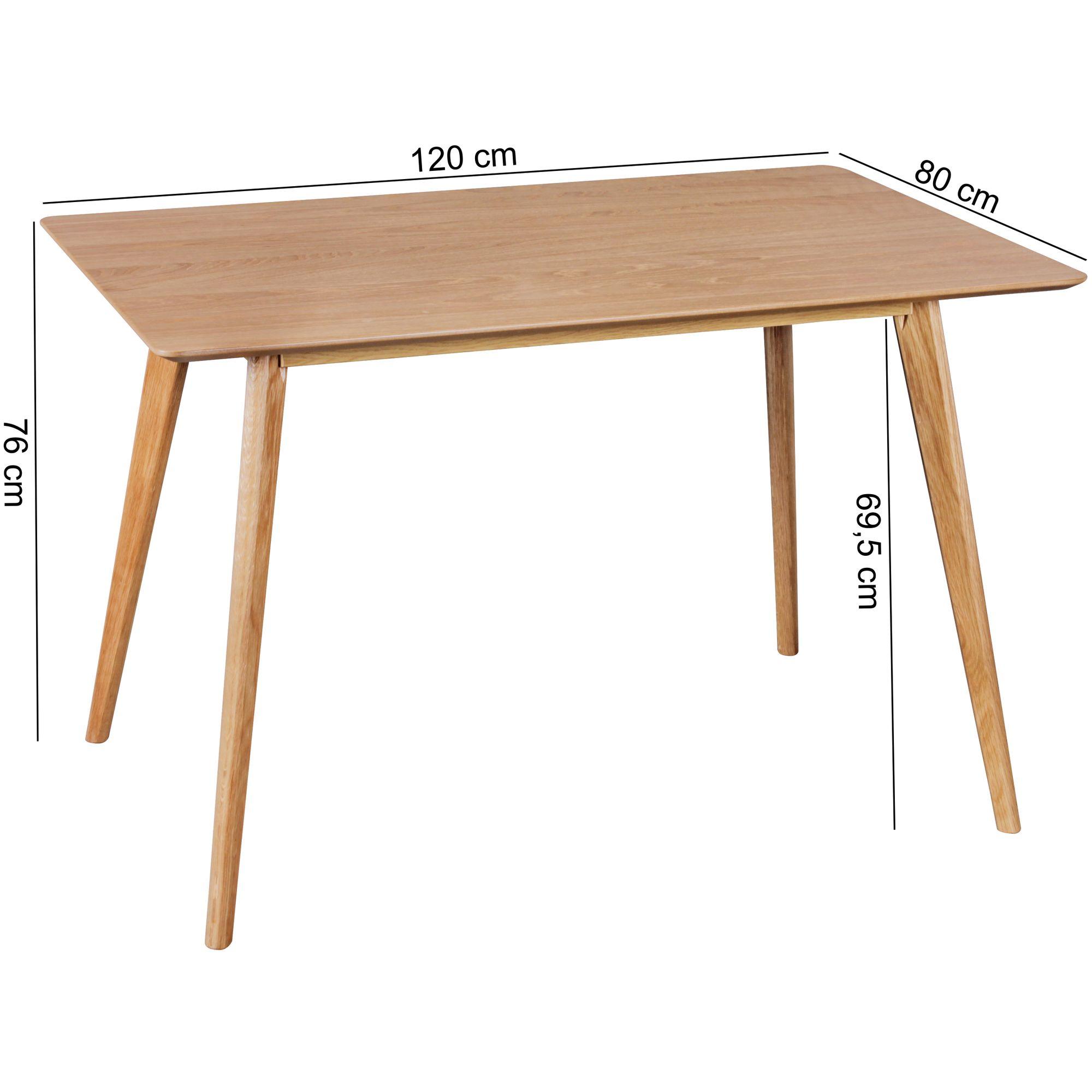 Esszimmertisch Holz Skandinavisch 120 X 80 Cm Eiche Design