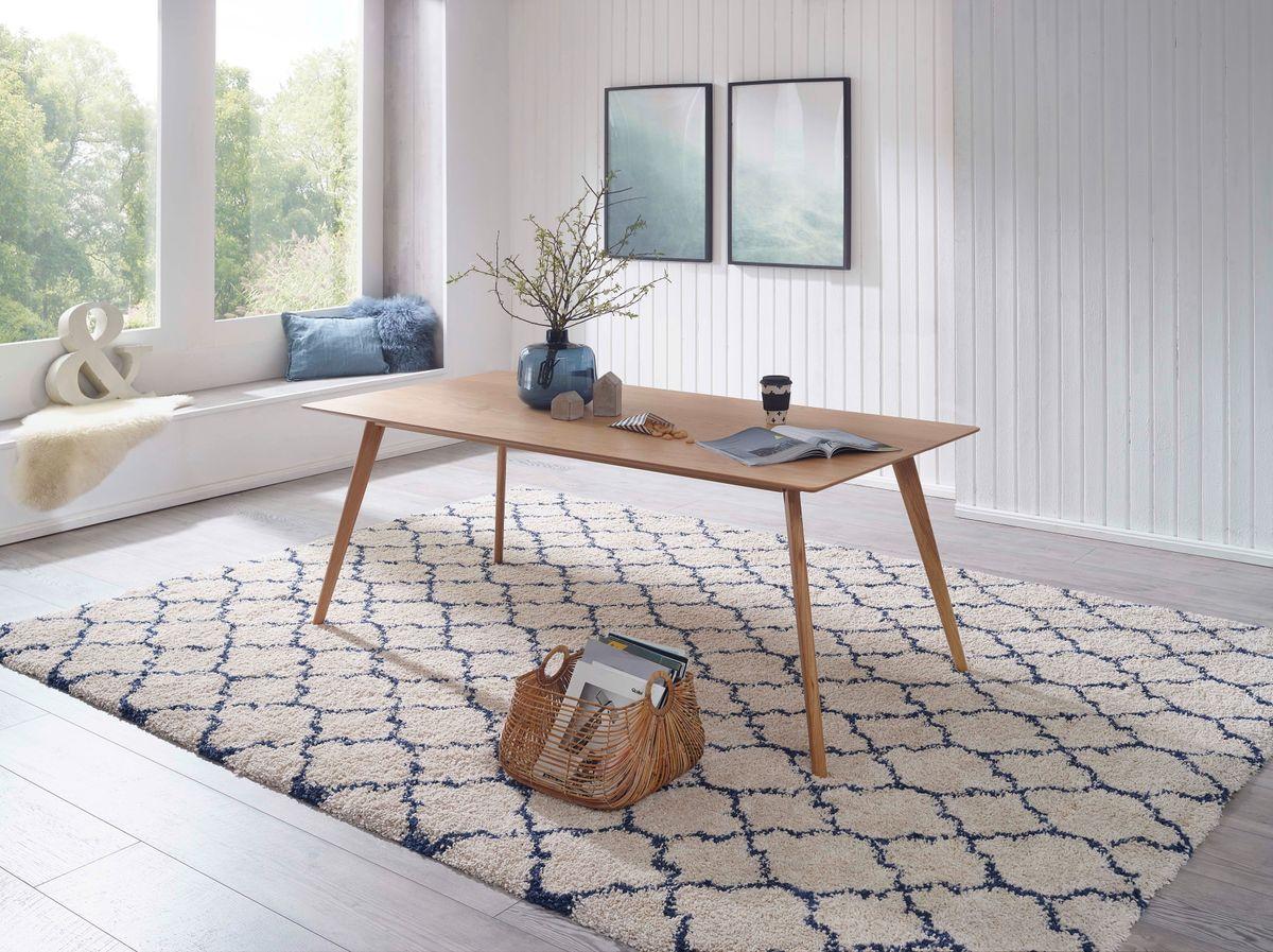 esszimmertisch mdf eiche esstisch skandinavisches design. Black Bedroom Furniture Sets. Home Design Ideas