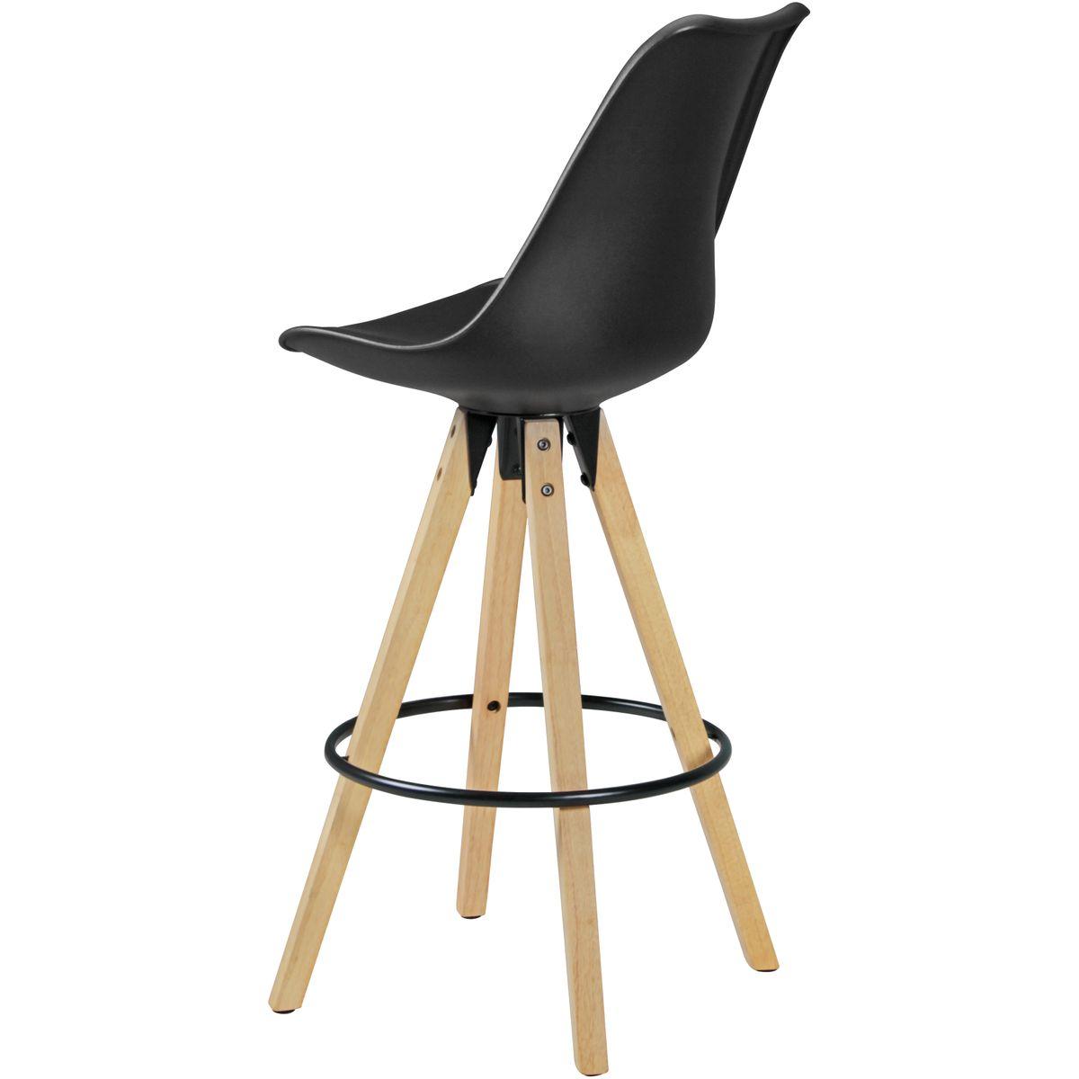 2er set barhocker retro design stoff holz mit lehne. Black Bedroom Furniture Sets. Home Design Ideas