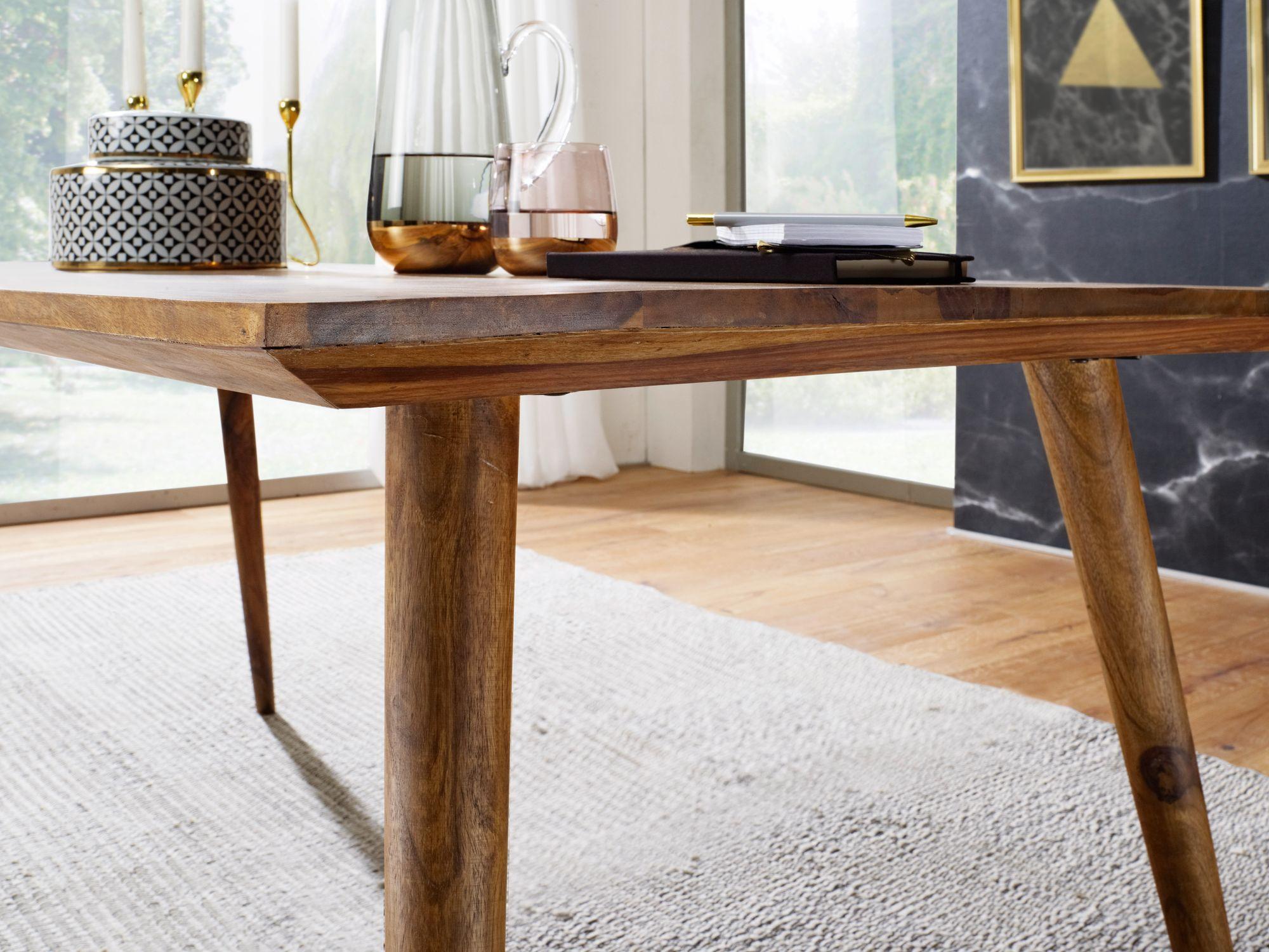 FineBuy Esszimmertisch Sheesham rustikal Massiv-Holz   Design ...