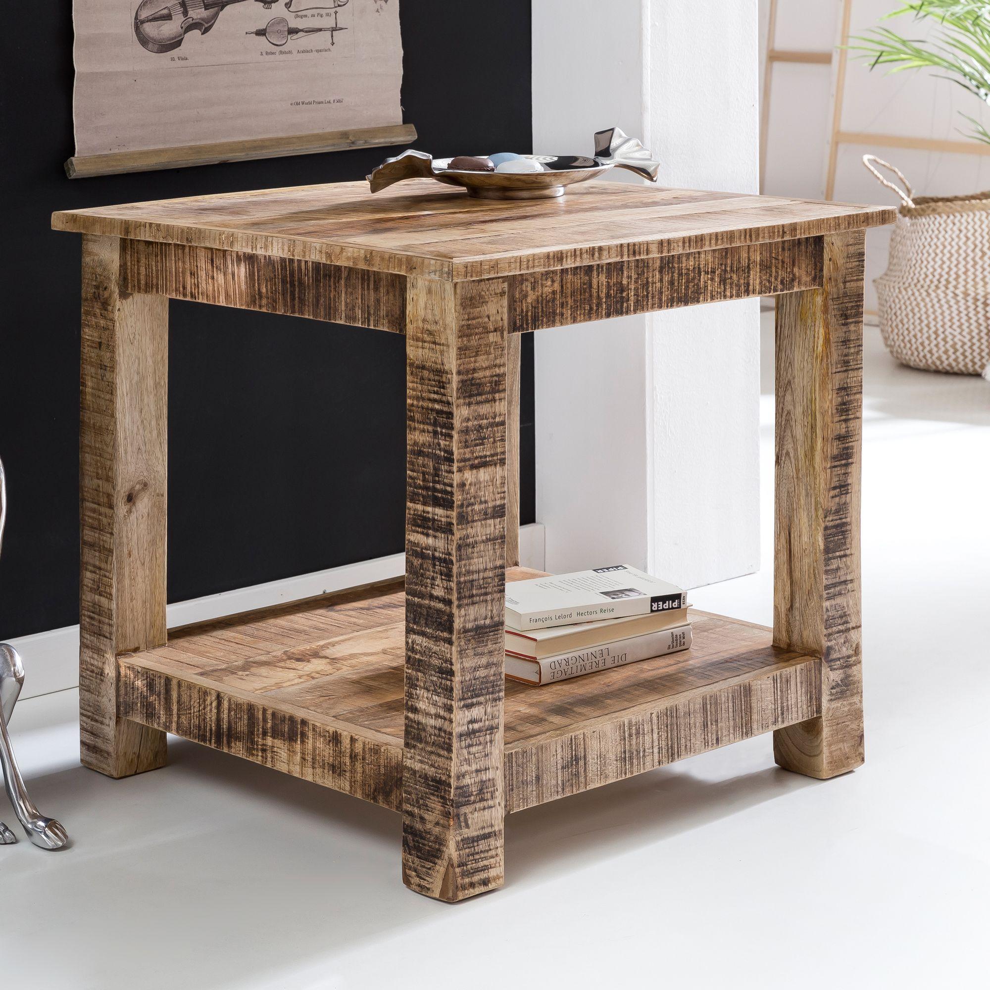 Wunderbar Interesting Finebuy Couchtisch Rusti Massiv Holz X X Cm Wohnzimmer With  Naturholz Couchtisch.