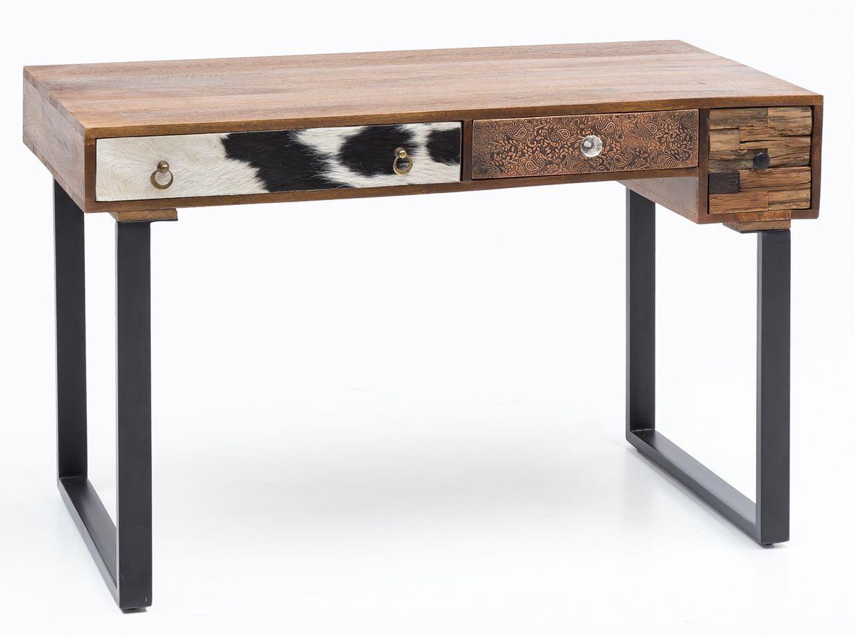 Finebuy schreibtisch kanpur 120 cm laptoptisch schubladen for Schreibtisch breite 120