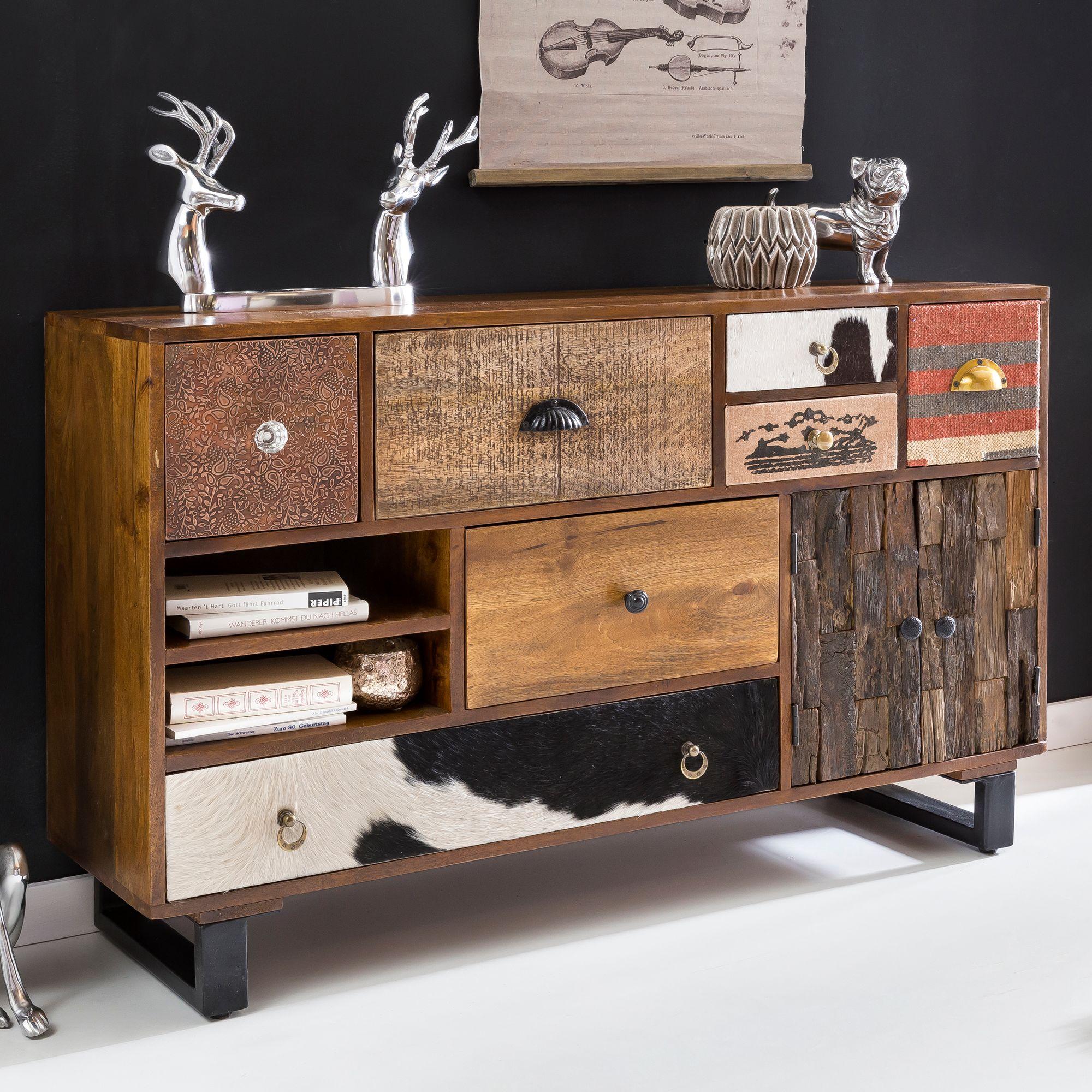 Finebuy Sideboard Kanpur 120 Cm Schublade Holz Kommode Flur Schrank
