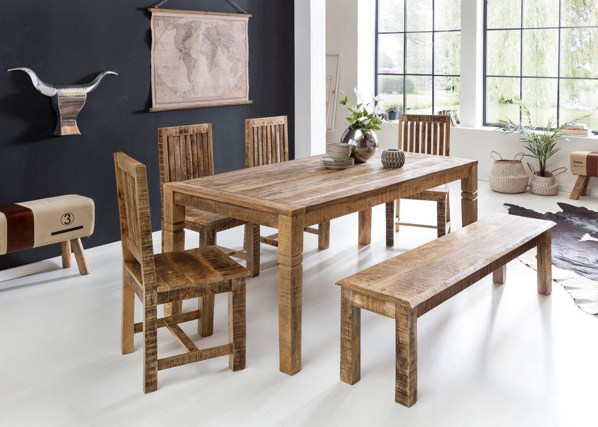 finebuy esszimmertisch rusti esstisch massivholz. Black Bedroom Furniture Sets. Home Design Ideas