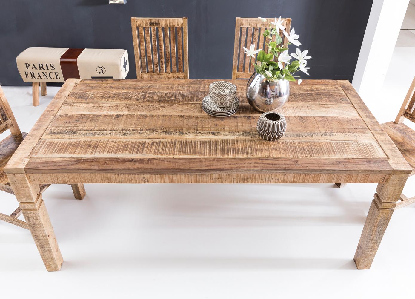 finebuy esstisch rusti 120 x 70cm esszimmertisch massiv holz tisch k chentisch ebay. Black Bedroom Furniture Sets. Home Design Ideas