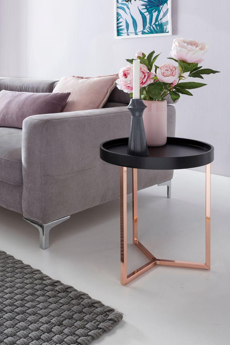 design beistelltisch give mit tablett abnehmbar 40 cm rund. Black Bedroom Furniture Sets. Home Design Ideas
