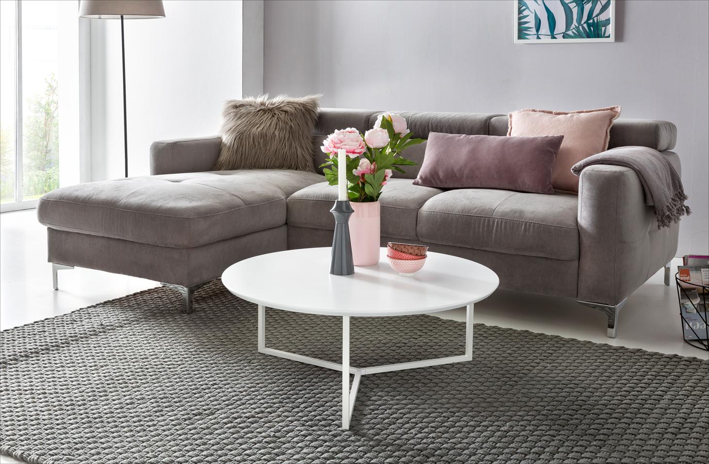 FineBuy Design Couchtisch WHITE 80 Cm Rund Weiß Matt Lackiert | Moderner  Wohnzimmertisch MDF Holz |