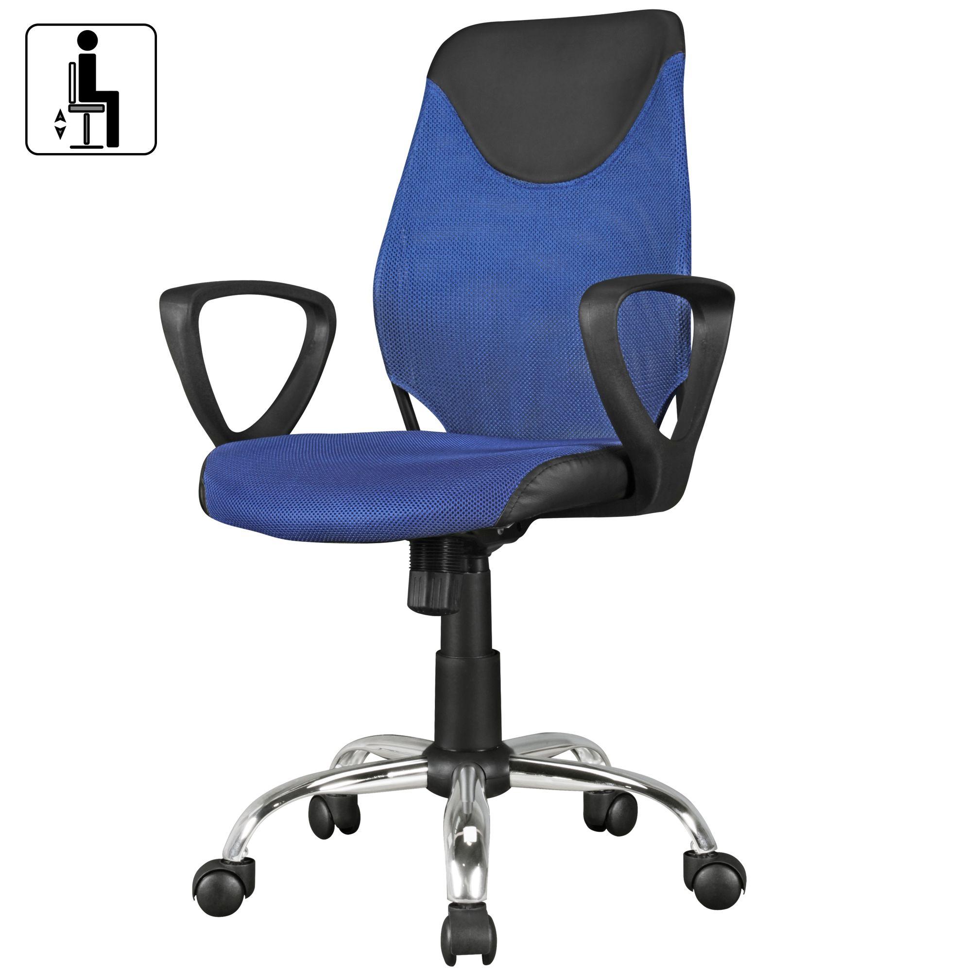 FineBuy Kinder Schreibtischstuhl KIM für Kinder ab 6 mit Lehne | Kinder Drehstuhl Kinder Bürostuhl ergonomisch | Jugendstuhl höhenverstellbar
