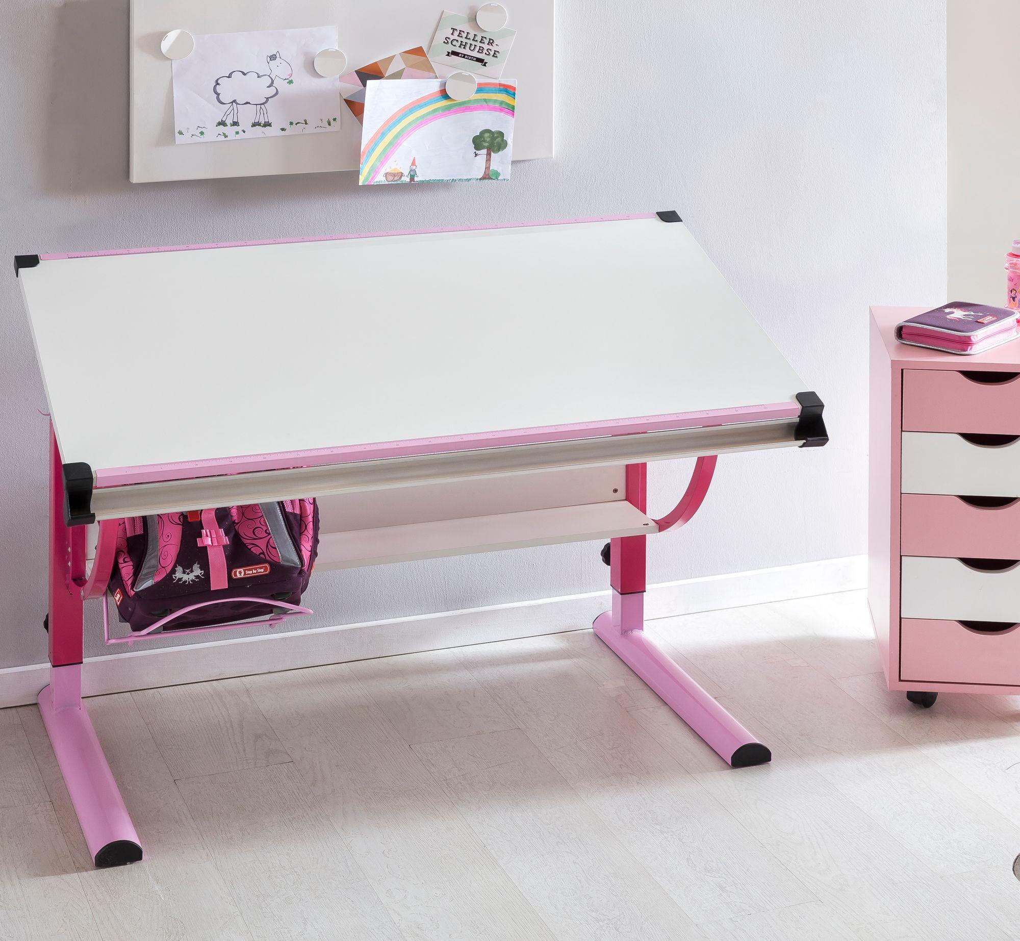 finebuy design kinderschreibtisch mikey holz 120 x 60 cm wei sch lerschreibtisch. Black Bedroom Furniture Sets. Home Design Ideas