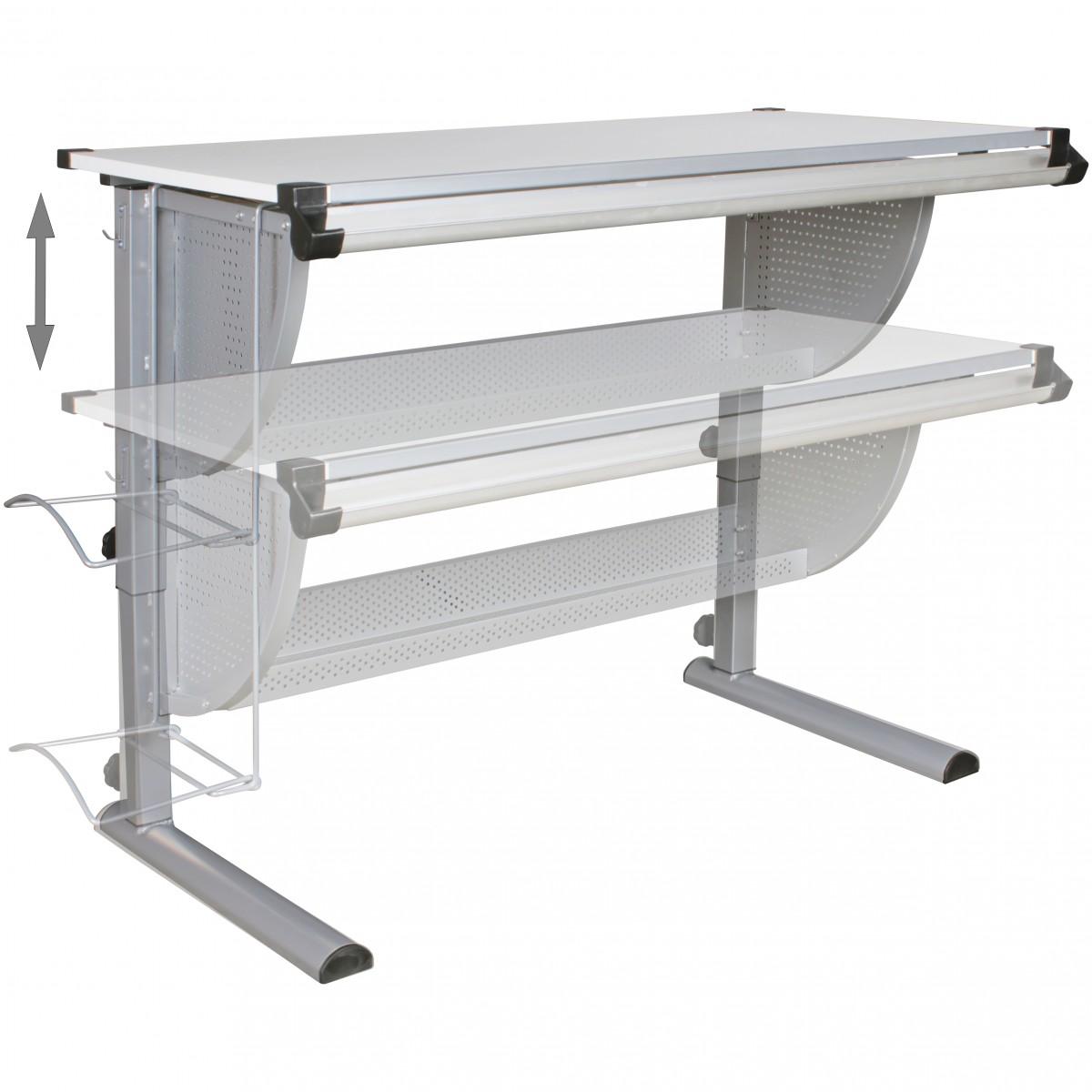 Kinderschreibtisch design  FineBuy Design Kinderschreibtisch MICHI Holz 120 x 60 cm grau / weiß ...