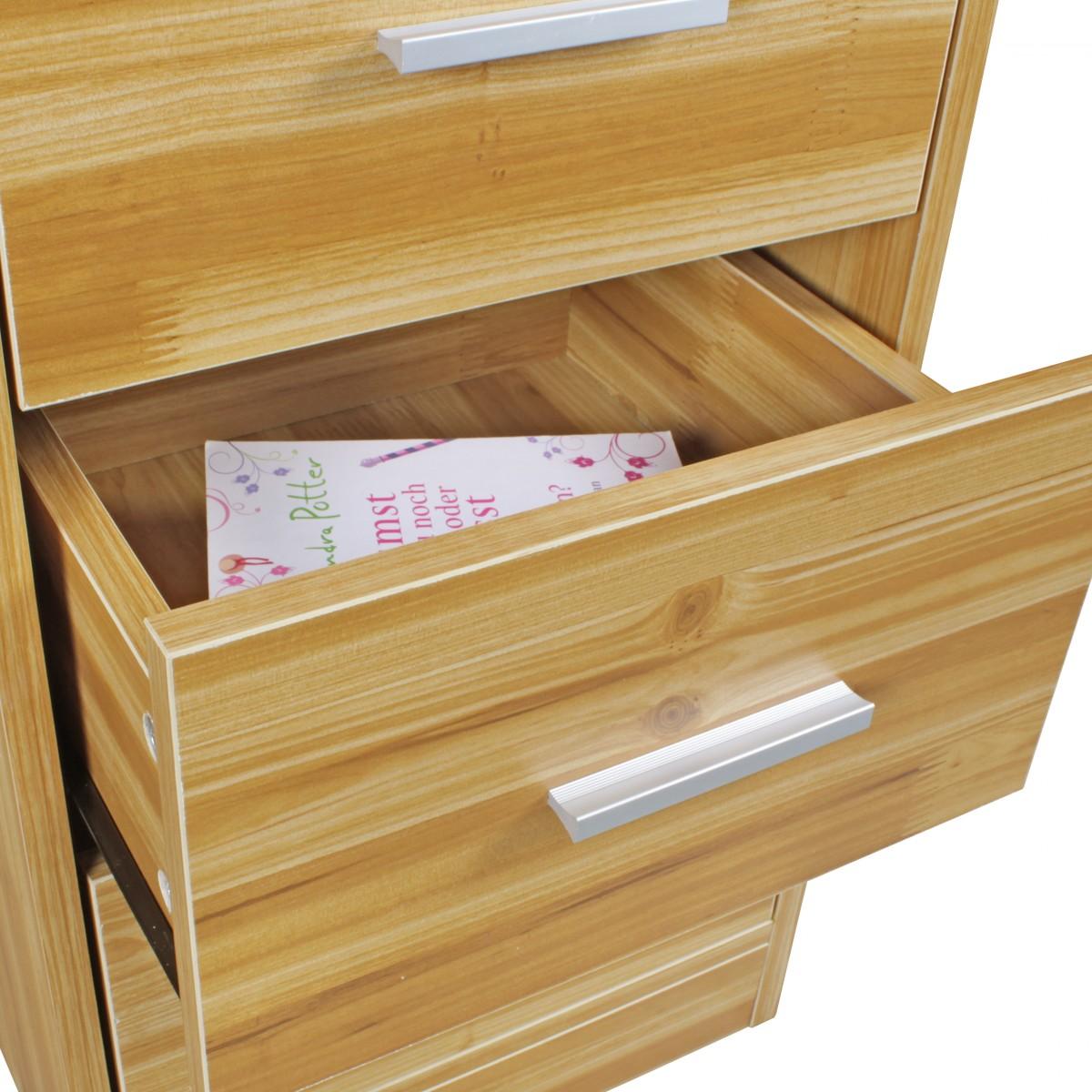 nachttisch schublade boxspringbett nachtschrank nachtkommode kommode buche holz ebay. Black Bedroom Furniture Sets. Home Design Ideas