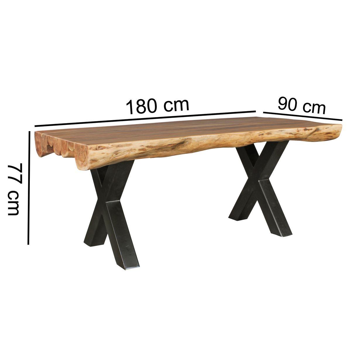Finebuy esszimmertisch akazie landhaus stil voll holz for Esszimmer tische vollholz