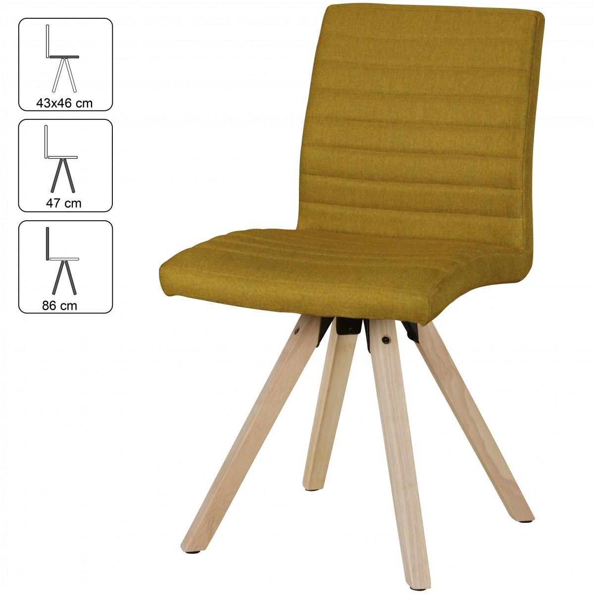 FineBuy 2er Set Retro Esszimmerstühle LUND Skandinavisches Design |  Polsterstuhl Stoff Bezug Mit Rückenlehne |