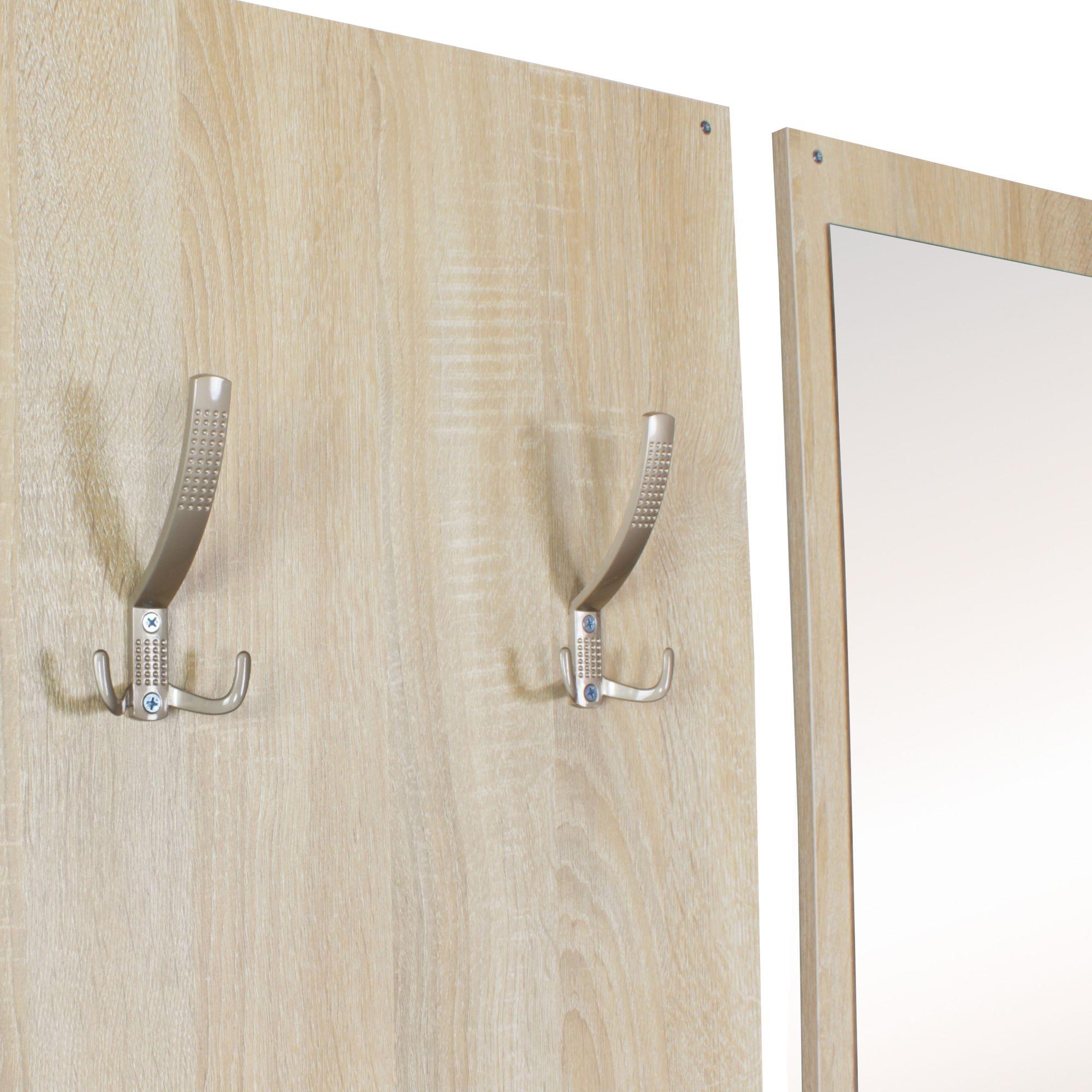 garderobe flurgarderobe paneel wandgarderobe spiegel komplett set kompakt sonoma ebay. Black Bedroom Furniture Sets. Home Design Ideas